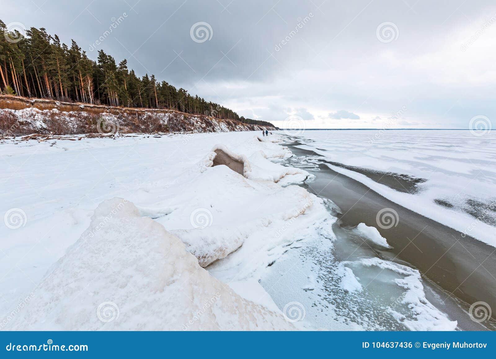 Download Het Landschap Van Het De Winterijs Op De Rivier De Ob-Rivier, Siberië Stock Foto - Afbeelding bestaande uit freezing, naughty: 104637436