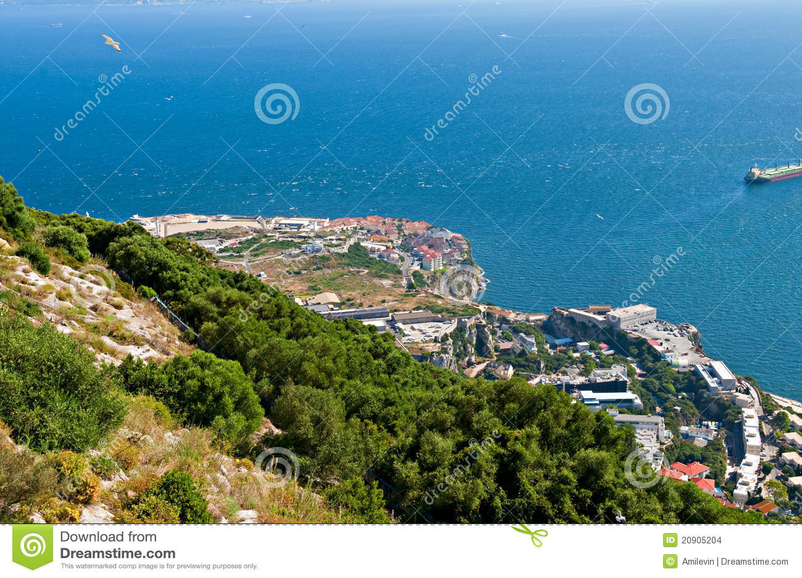 Het landschap van Gibraltar