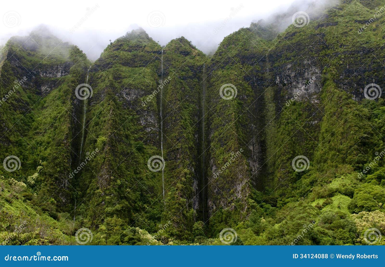 Het Landschap van Hawaï: De regenachtige Watervallen van de Seizoenberg