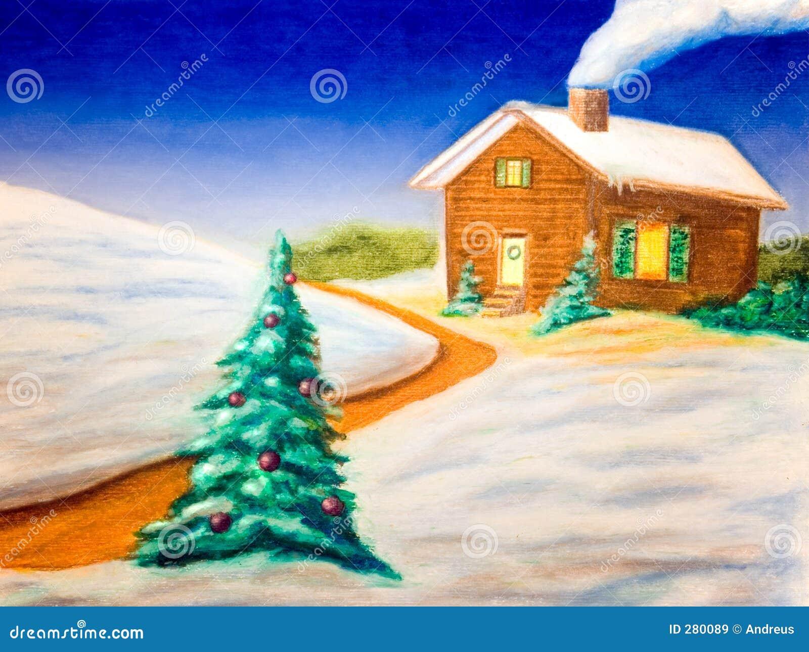 Het landschap van Kerstmis