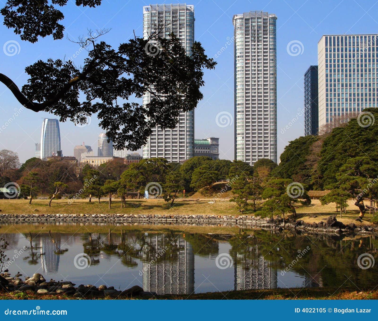 Het landschap van Tokyo, Japan