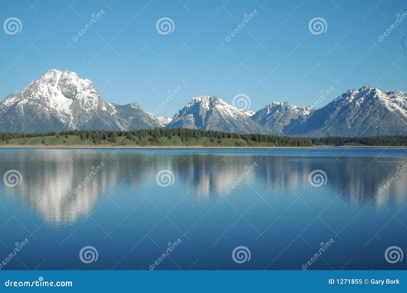 Het landschap van Yellowstone