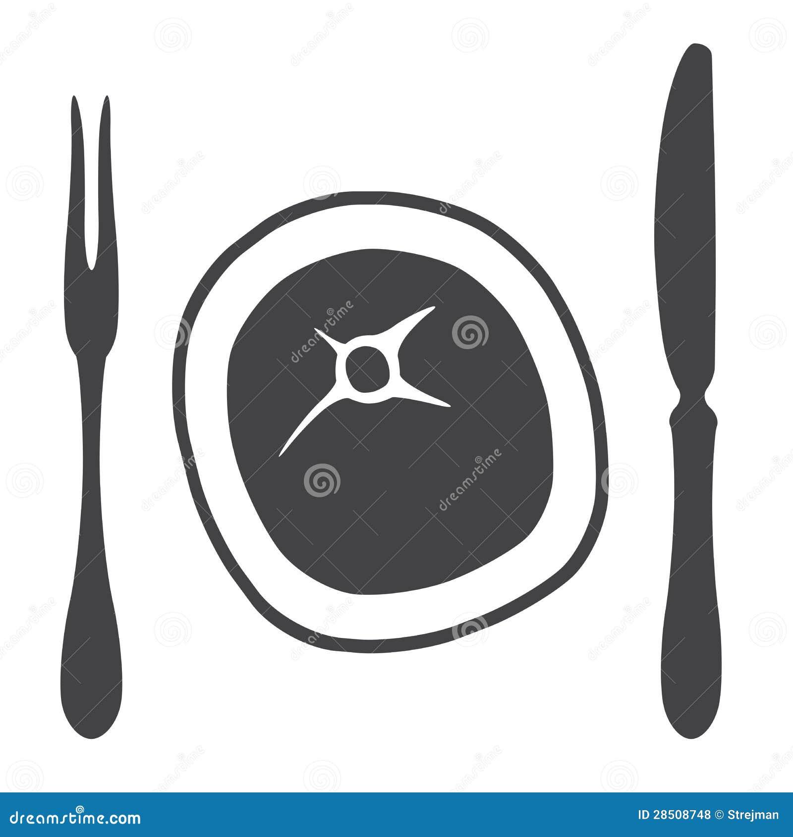 Het lapje vlees van de het messenvork van het bestek illustratie vector illustratie - Het upgraden van m ...