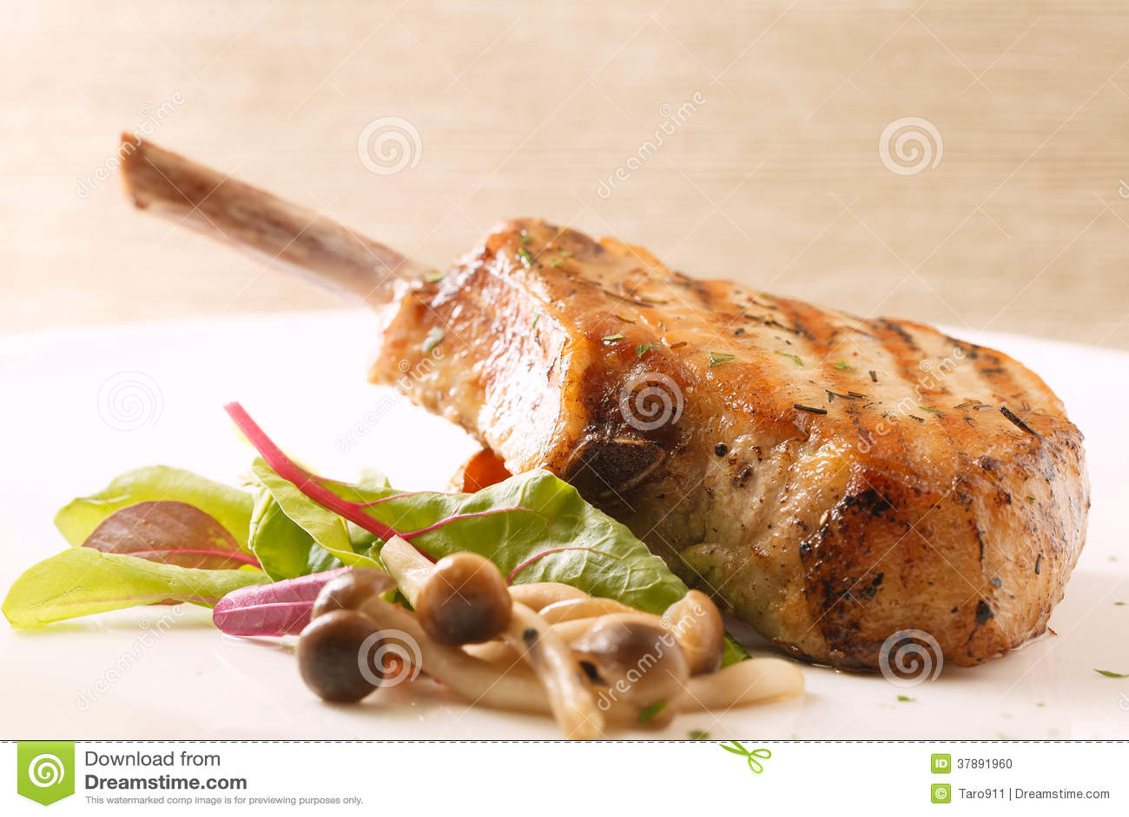 Het lapje vlees van de varkensvleesrib