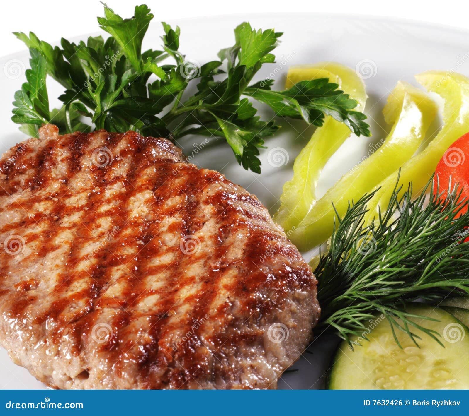 Het lapje vlees van het varkensvlees royalty vrije stock afbeelding afbeelding 7632426 - Hoek maaltijd ...