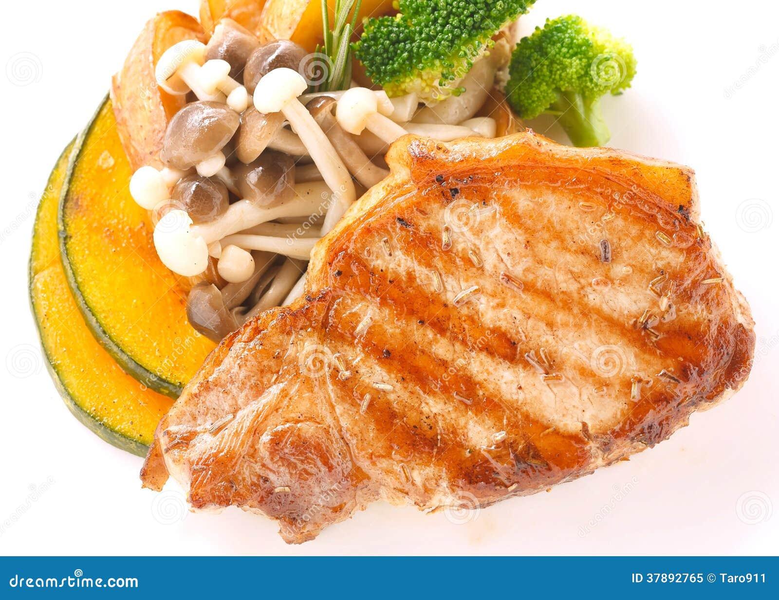 Het lapje vlees van het varkensvleeslendestuk