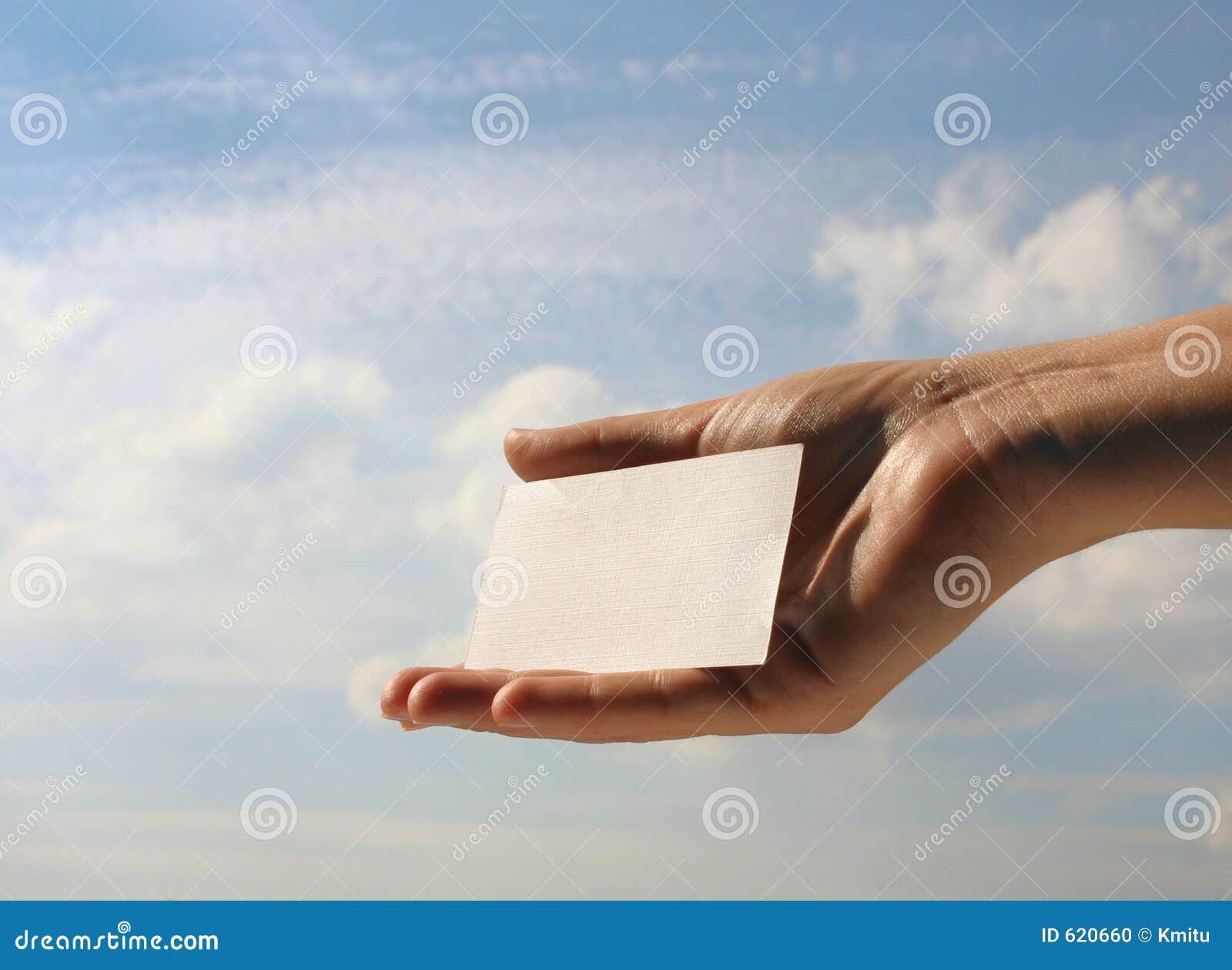 Het lege adreskaartje van de holding