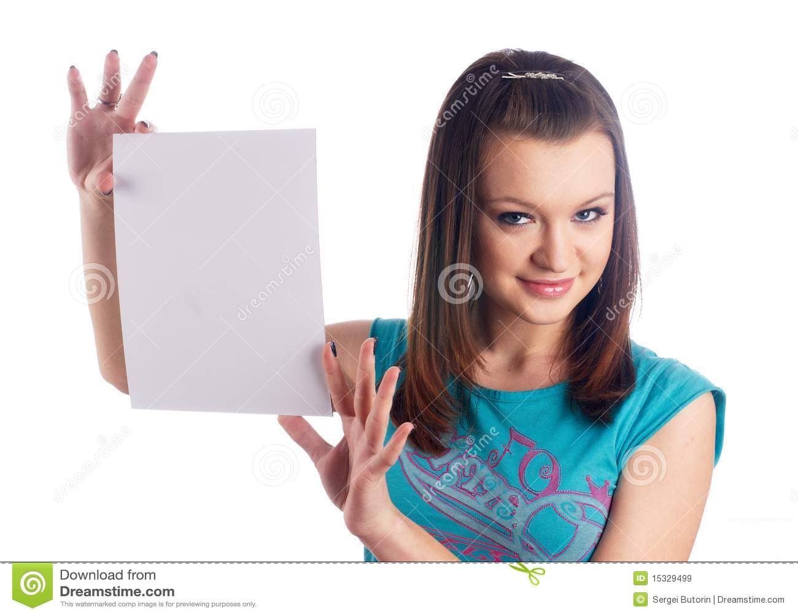 Het lege blad van het meisje wth royalty vrije stock afbeeldingen afbeelding 15329499 - Foto tiener ruimte meisje ...