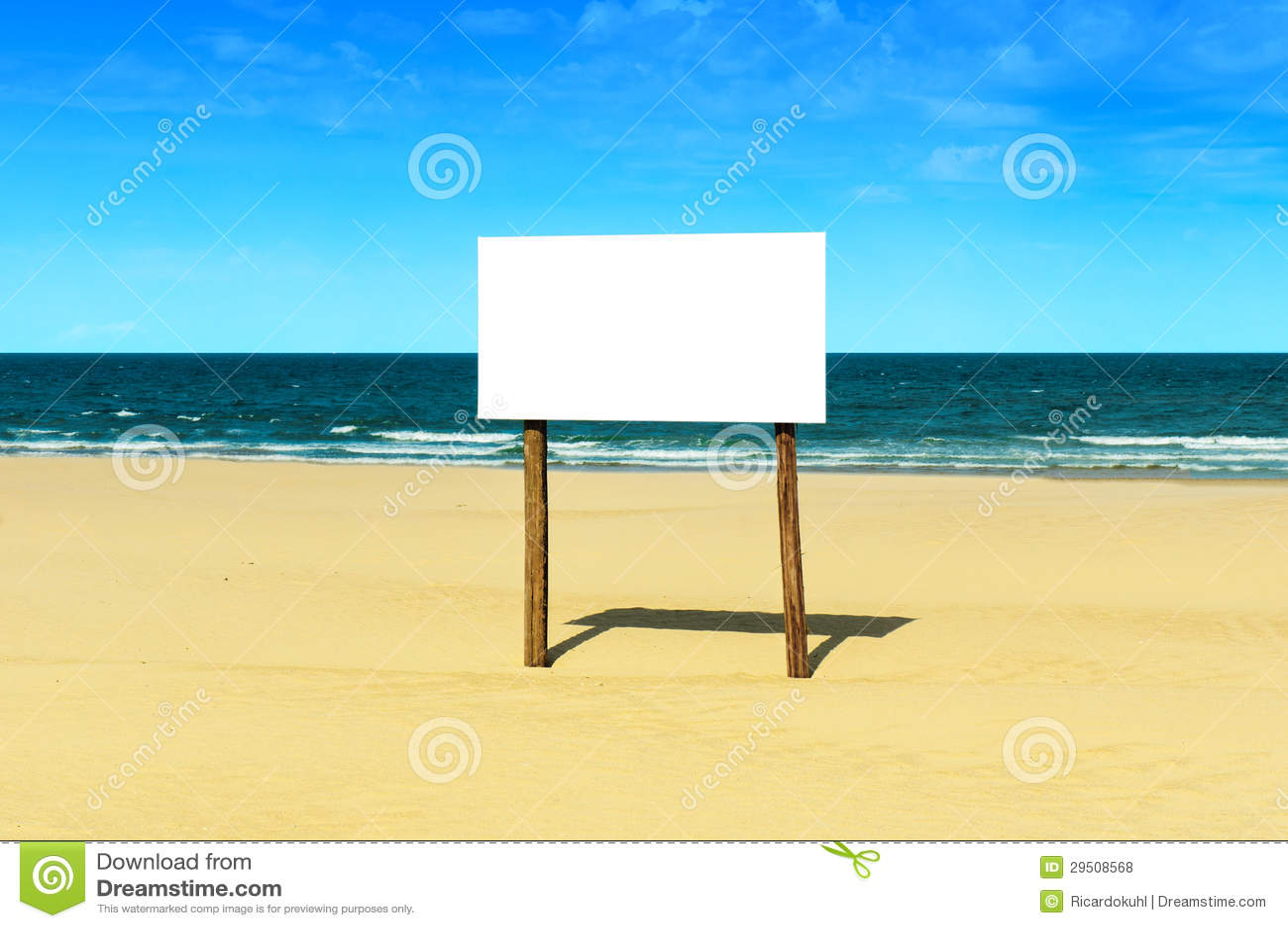 Het lege Teken van het Strand