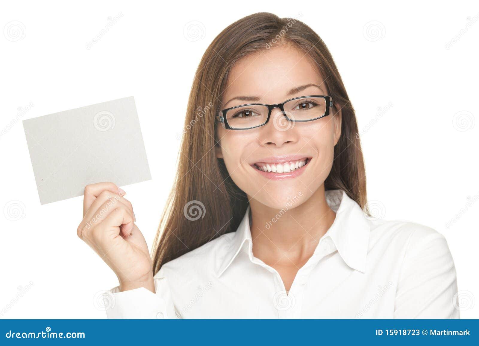 Het lege tekenvrouw glimlachen