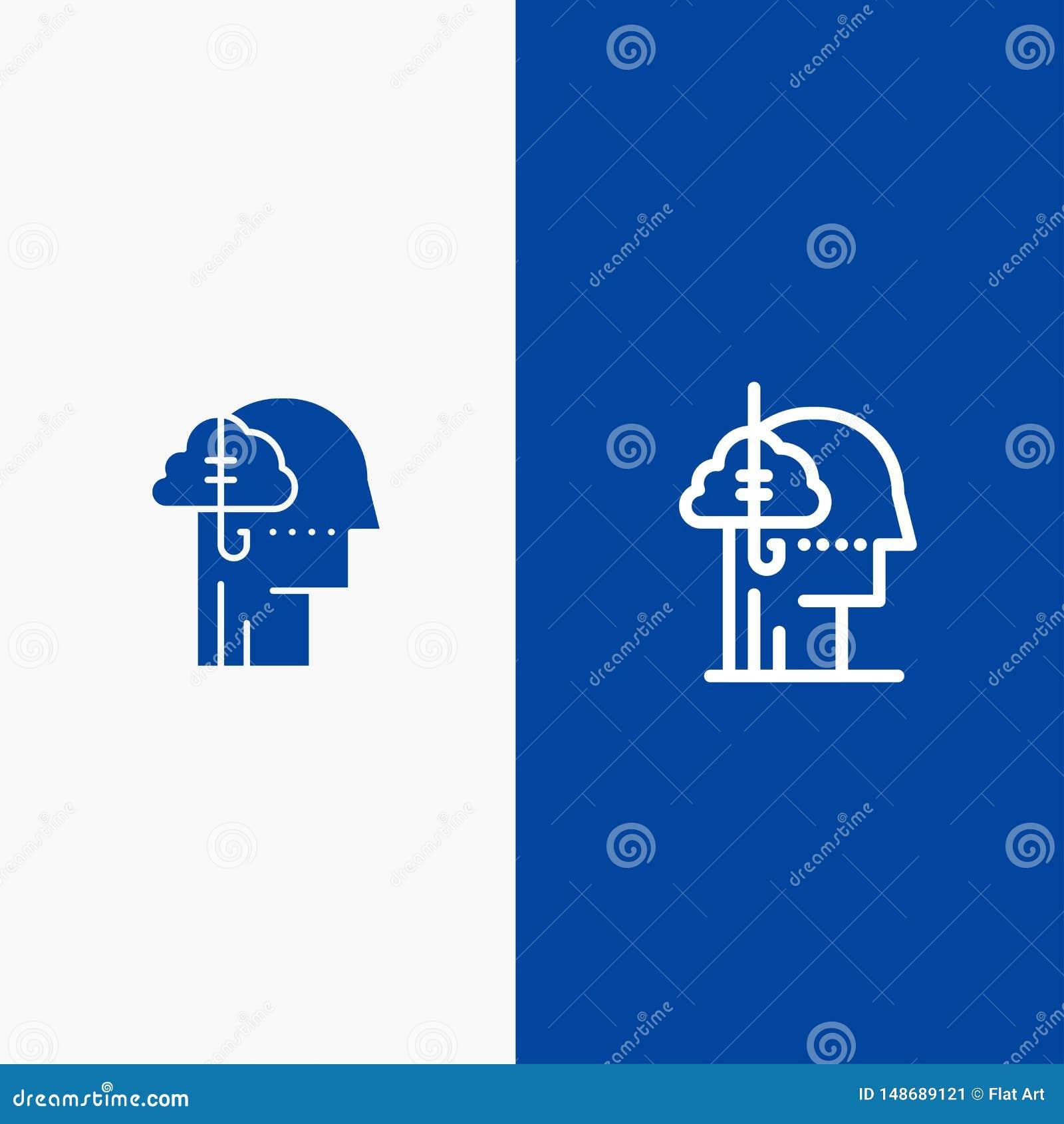 Het lenen Ideeën, Verslaving, Vangst, Gewoonte, Menselijke Lijn en Lijn van de het pictogram Blauwe banner van Glyph de Stevige e