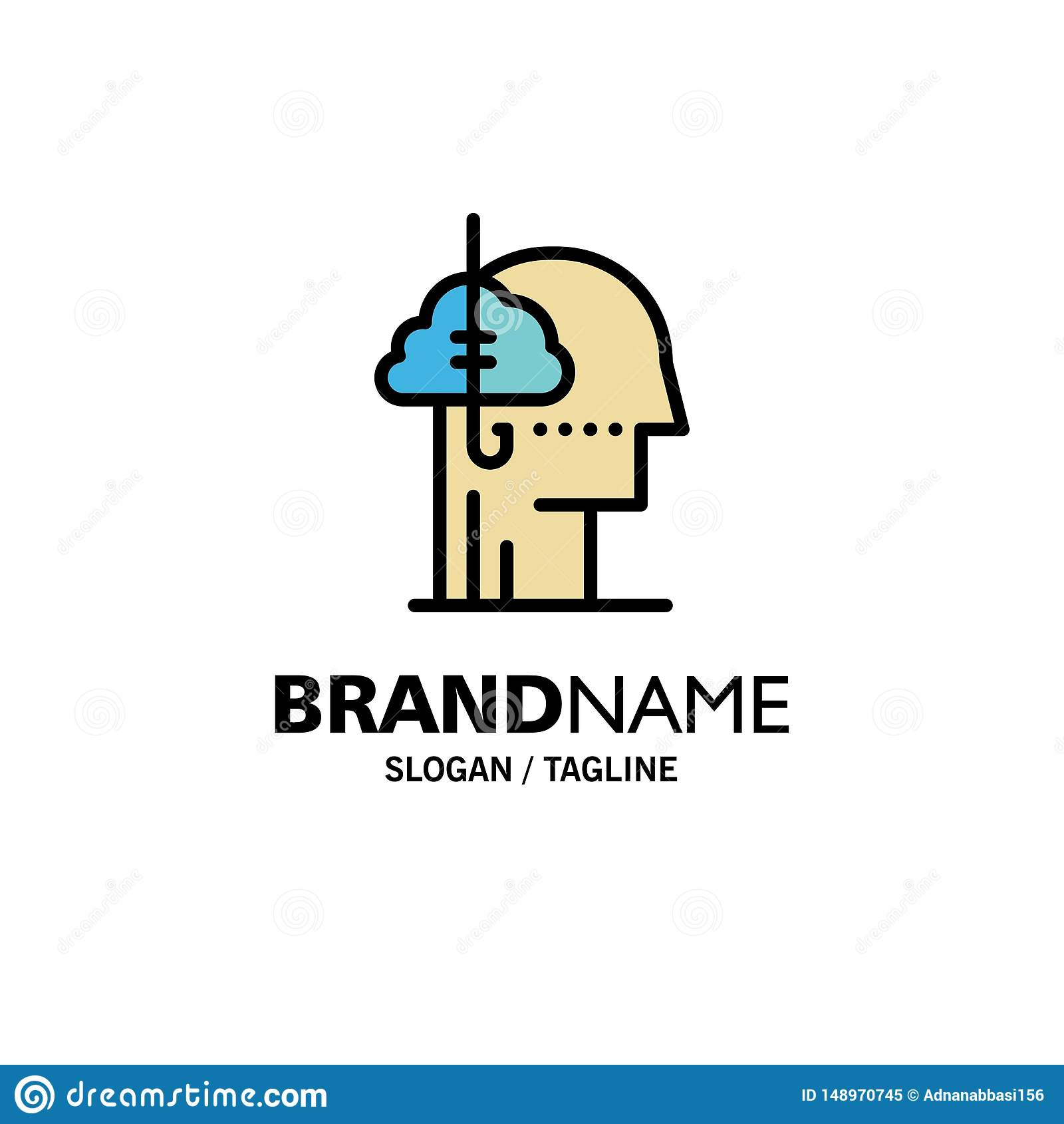 Het lenen Ideeën, Verslaving, Vangst, Gewoonte, Menselijke Zaken Logo Template vlakke kleur