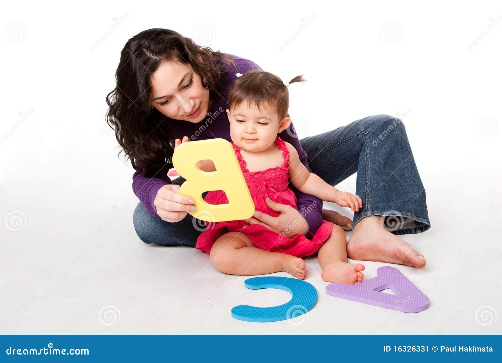 Het leren van de baby alfabet ABC