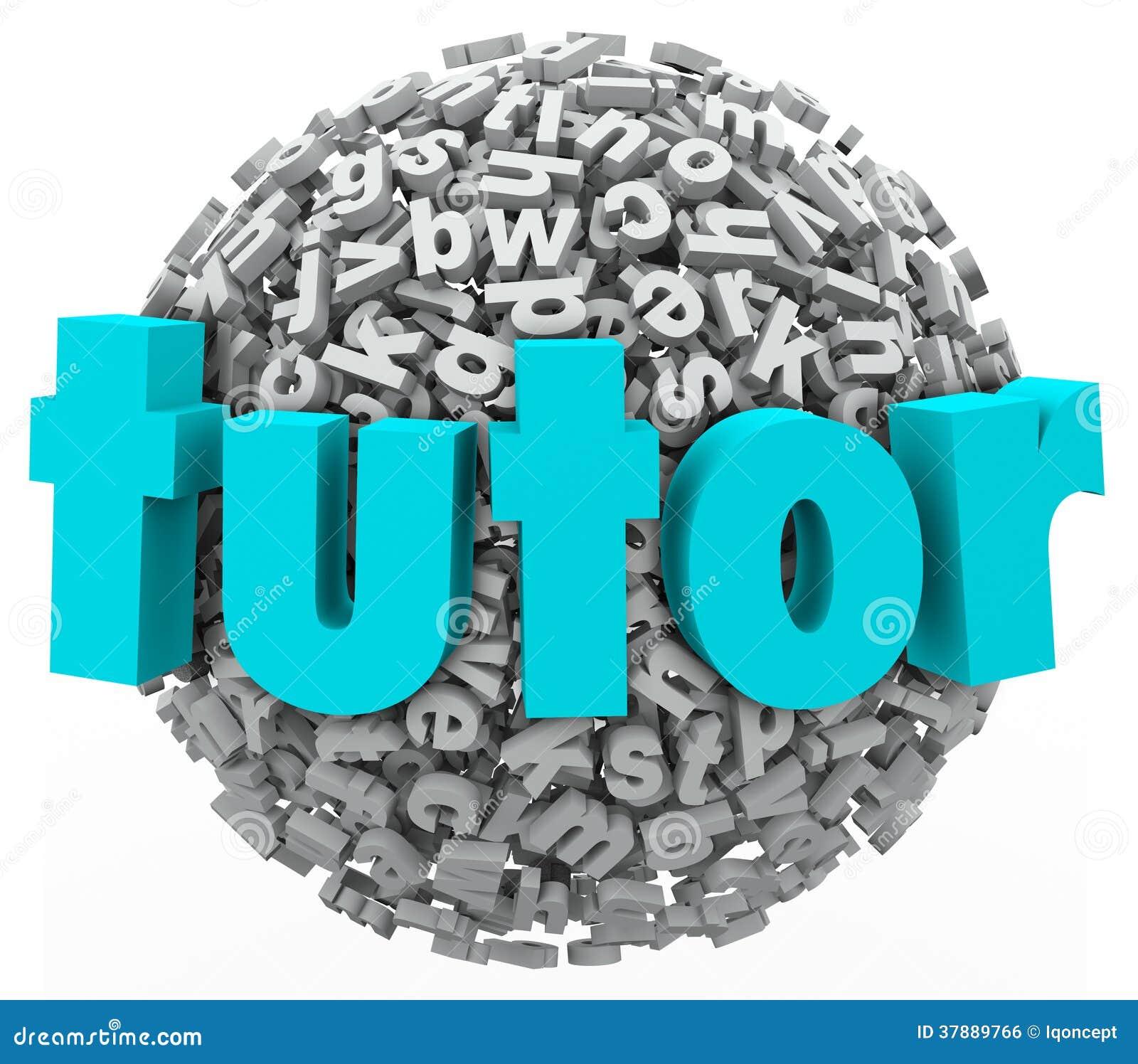 Het Leren van privé-leraarletter ball sphere het Lessen Privé Onderwijs Writi