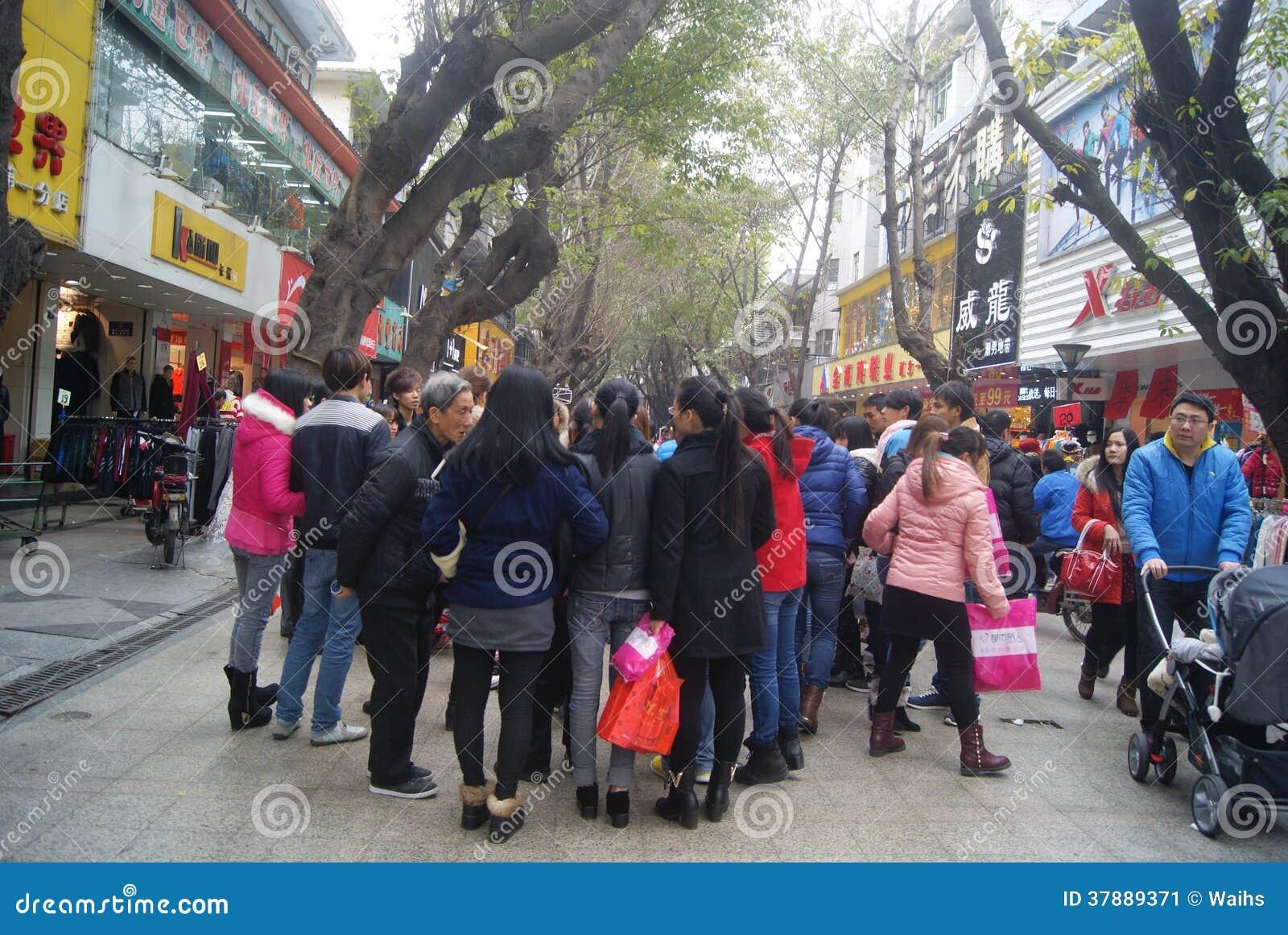 Het letten op het kappendemonstratie, in China
