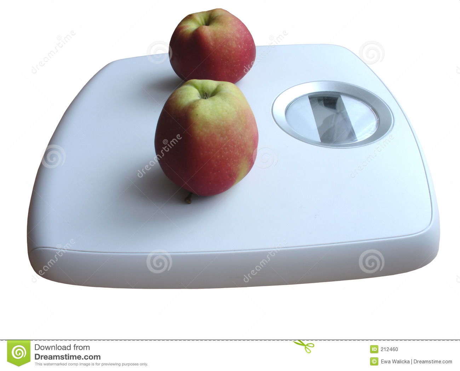 Het letten op van het gewicht