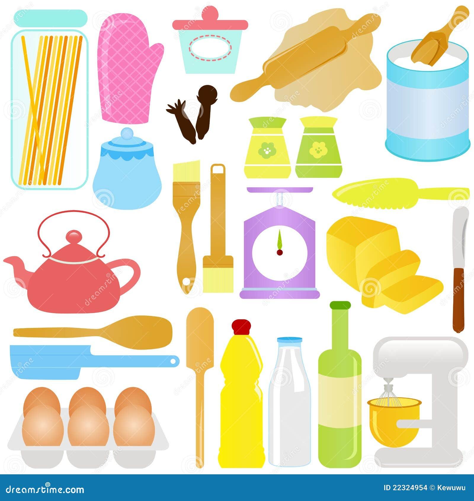 Het leuke koken het bakken thema vector illustratie afbeelding 22324954 - Koken afbeelding ...