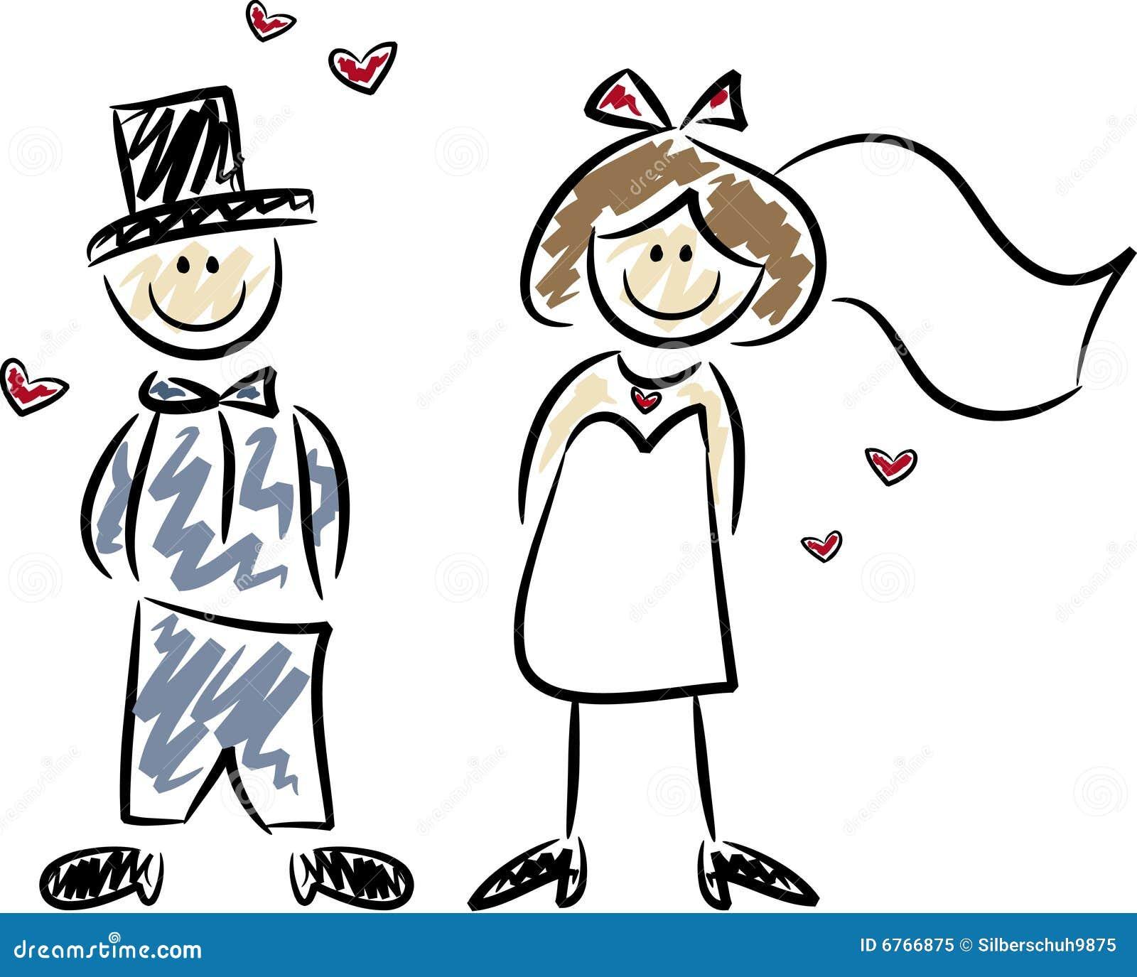het leuke paar van het huwelijk vector illustratie free bride and groom clipart images bride and groom cartoon images free
