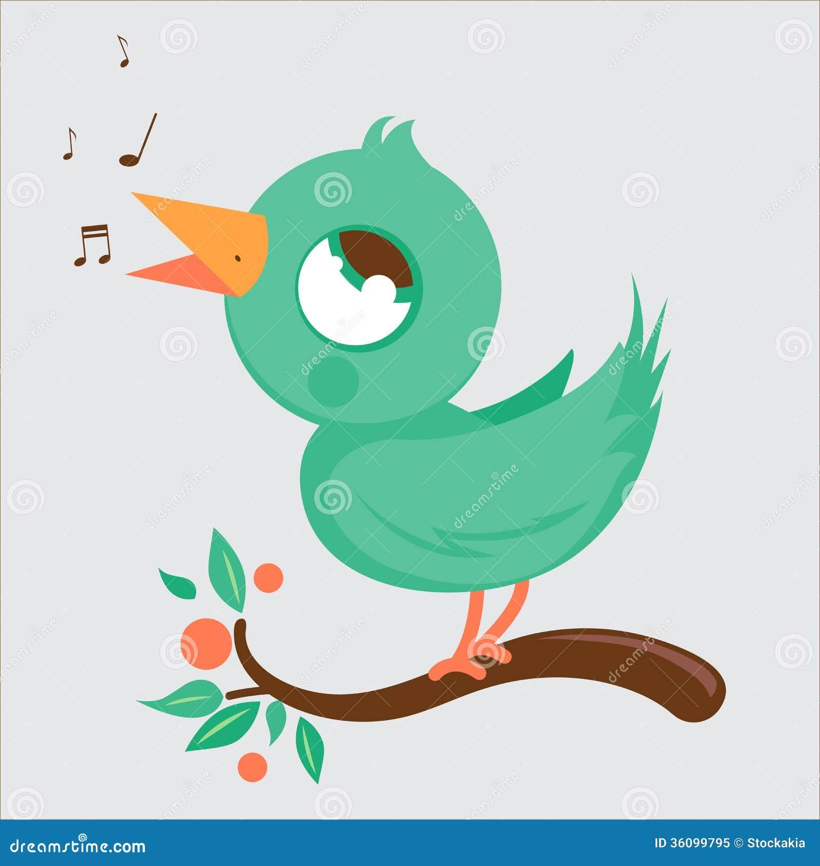 Het leuke vogel zingen