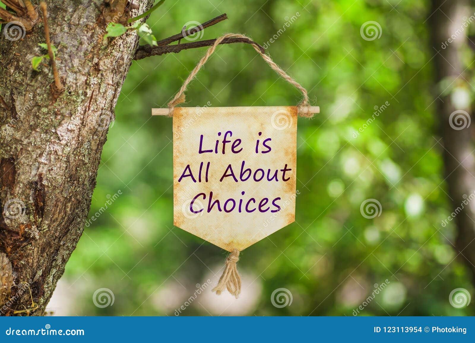 Het leven is allen over keuzen op Document Rol