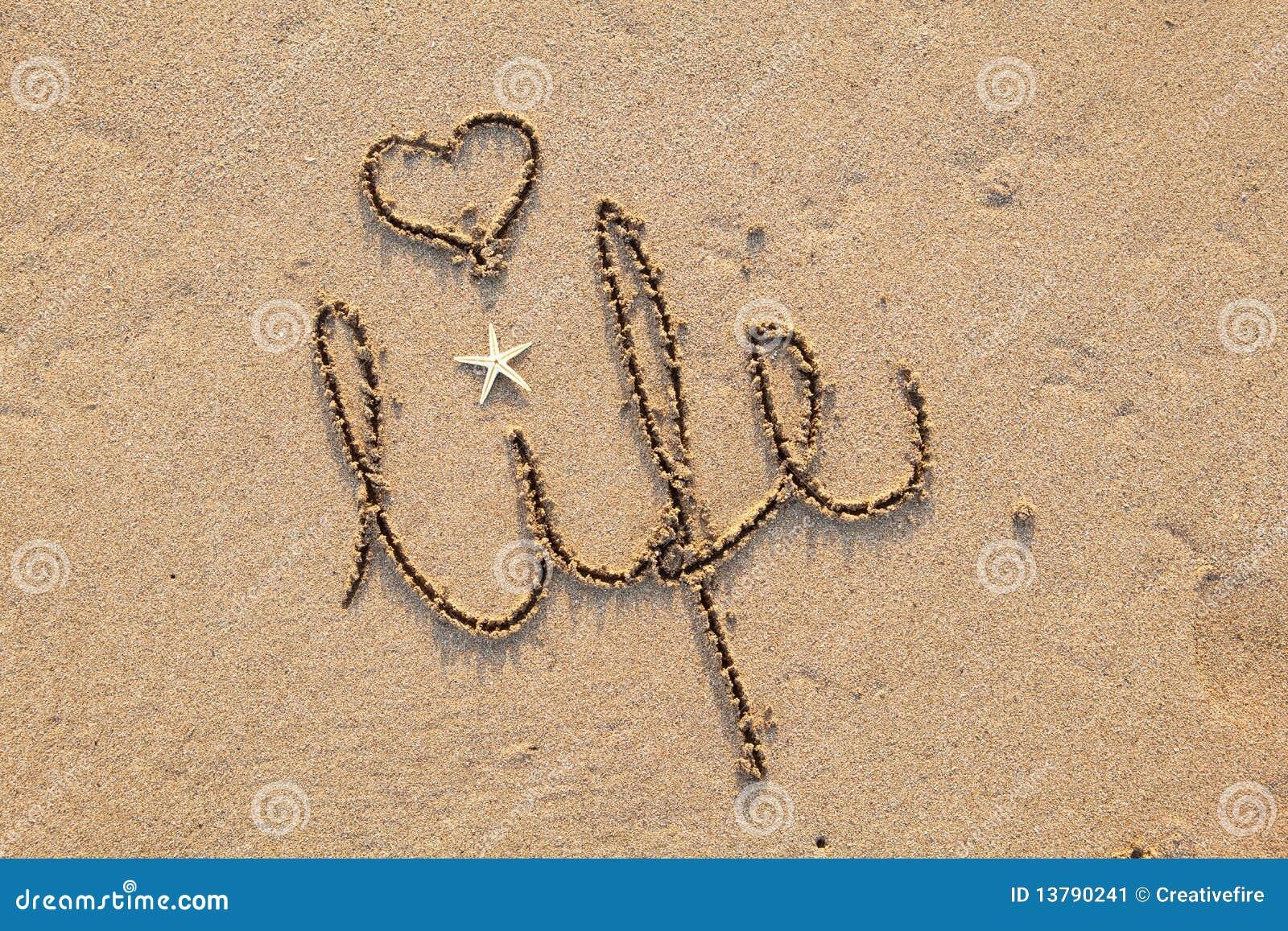 Het leven dat in Zand met Hart wordt geschreven