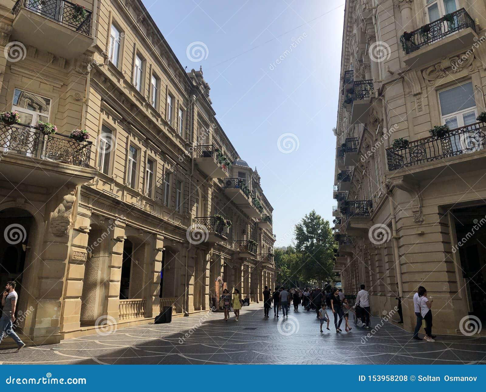 Het leven het Leven De straten van Baku