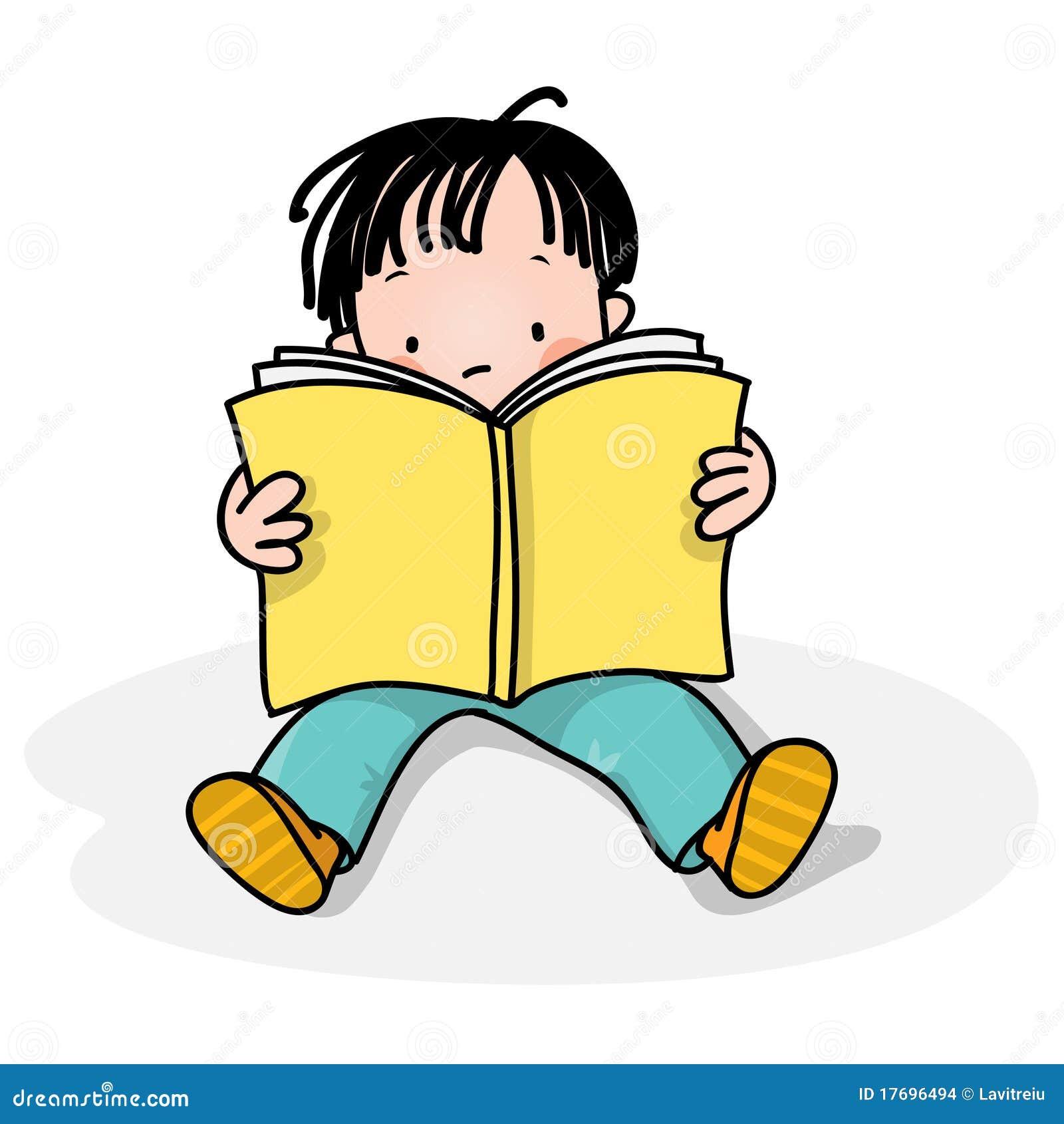 Het Lezen Van Jonge Geitjes Stock Afbeeldingen