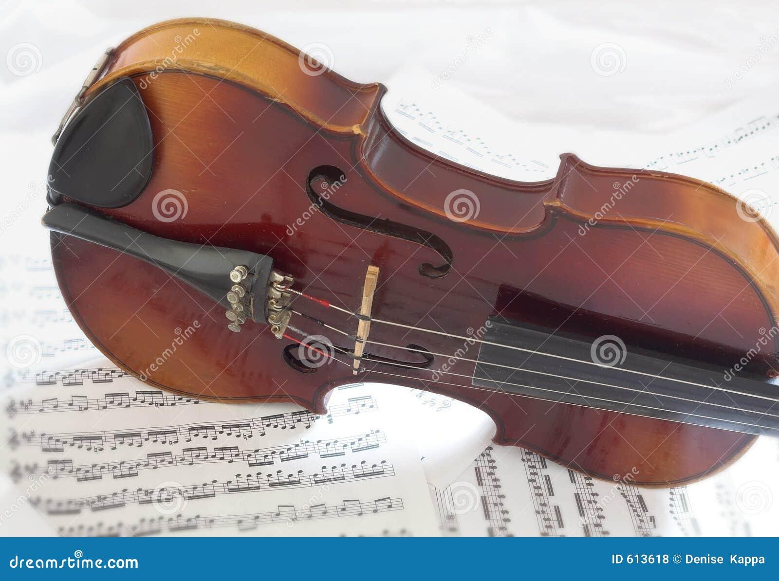 Het Lichaam van de viool met bladmuziek