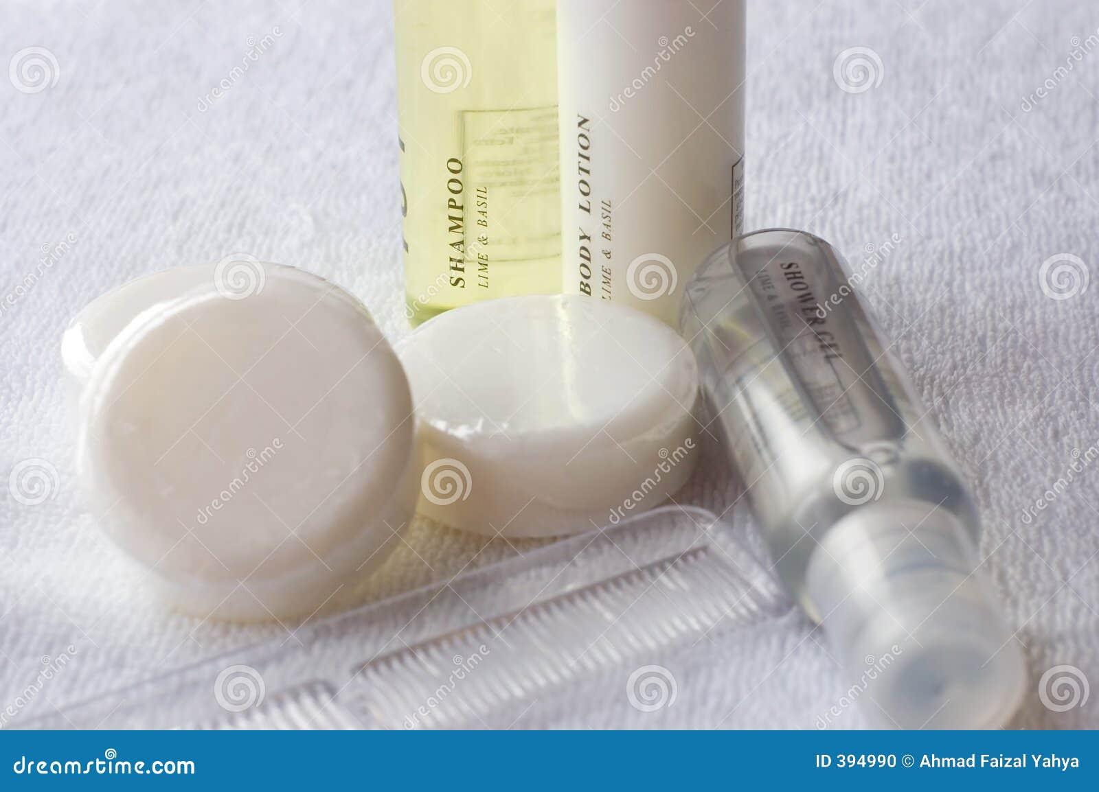 Het lichaamslotion van de shampoo