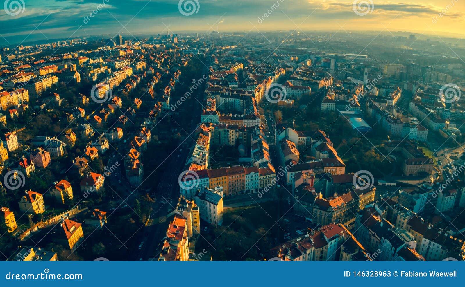 Het licht van de het Satellietbeeldzomer van Praag
