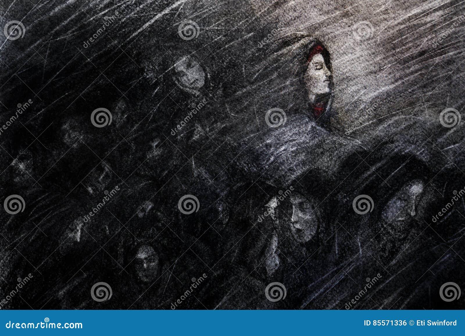 Het lijden van het aan onweer