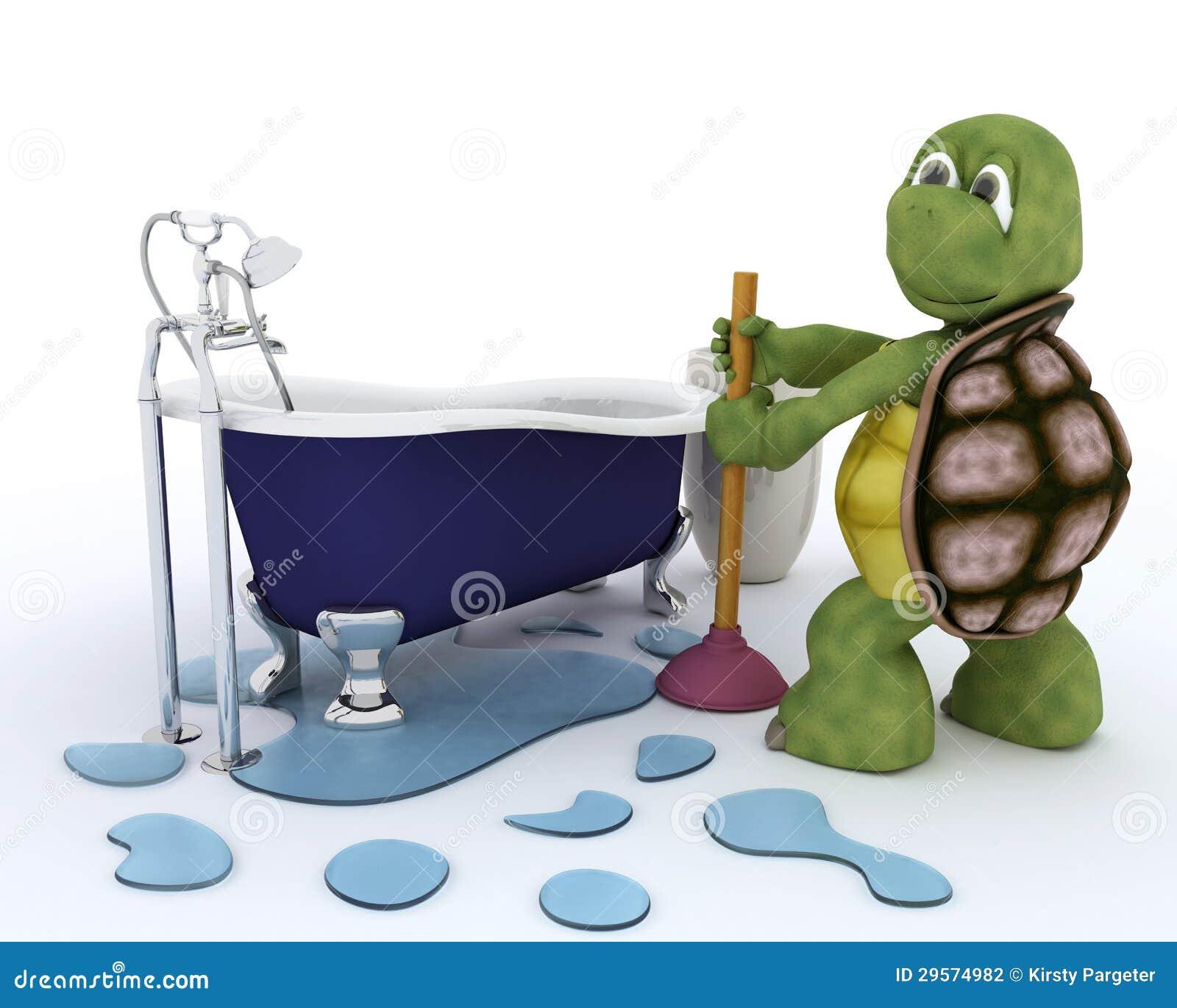 Het loodgieterswerkcontractant van de schildpad