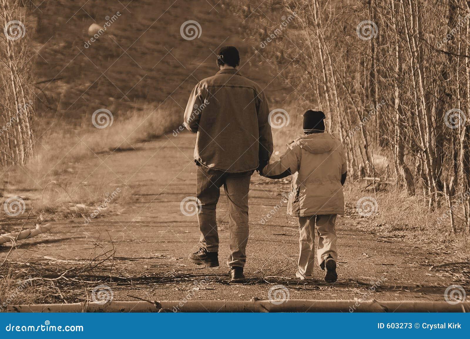 Het lopen met papa