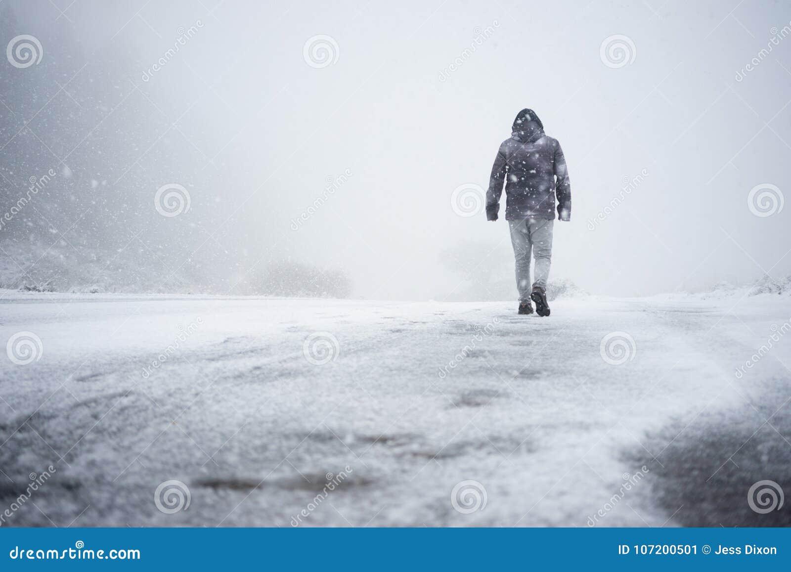 Het lopen in Sneeuw