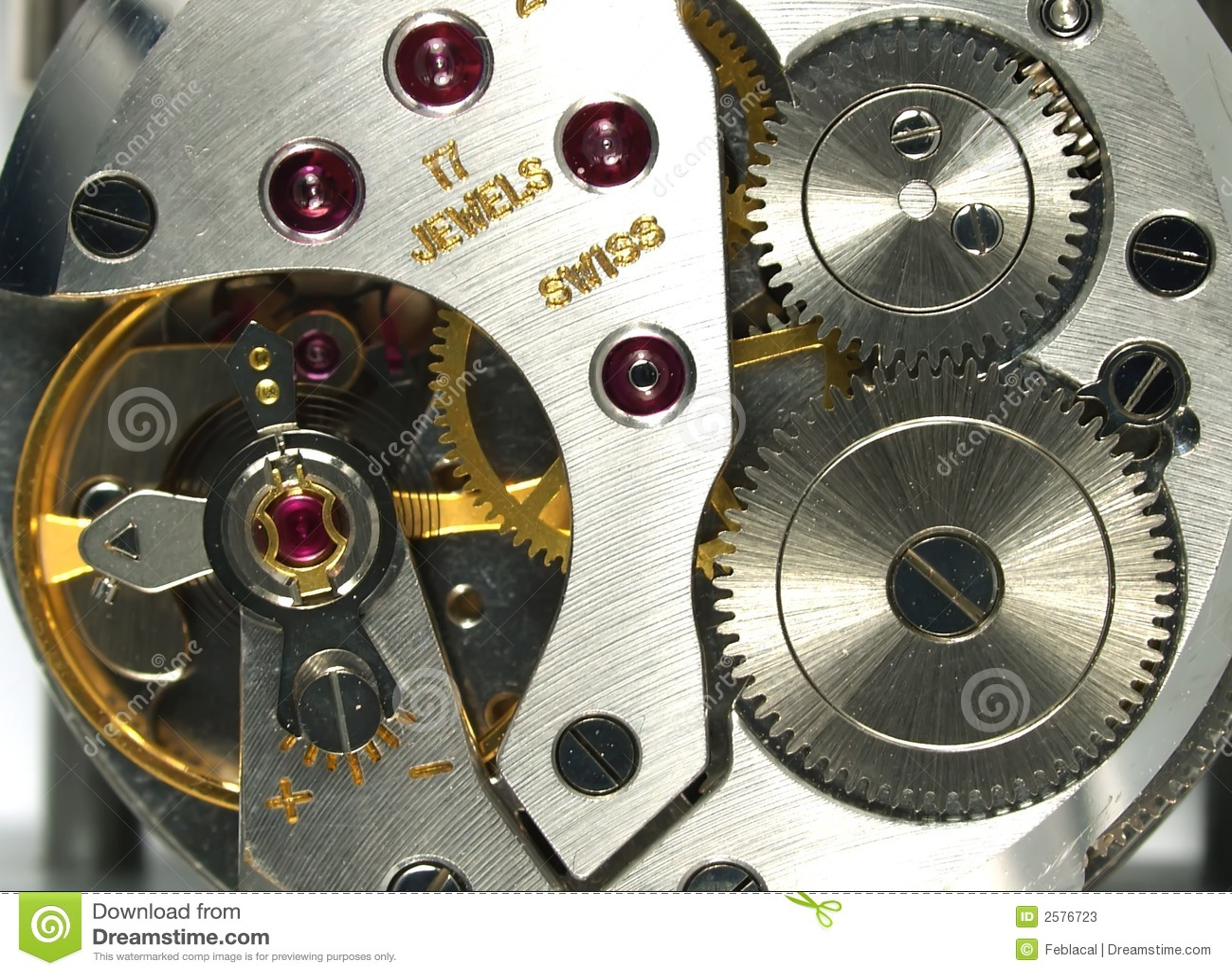 Het macrodetail van het horloge