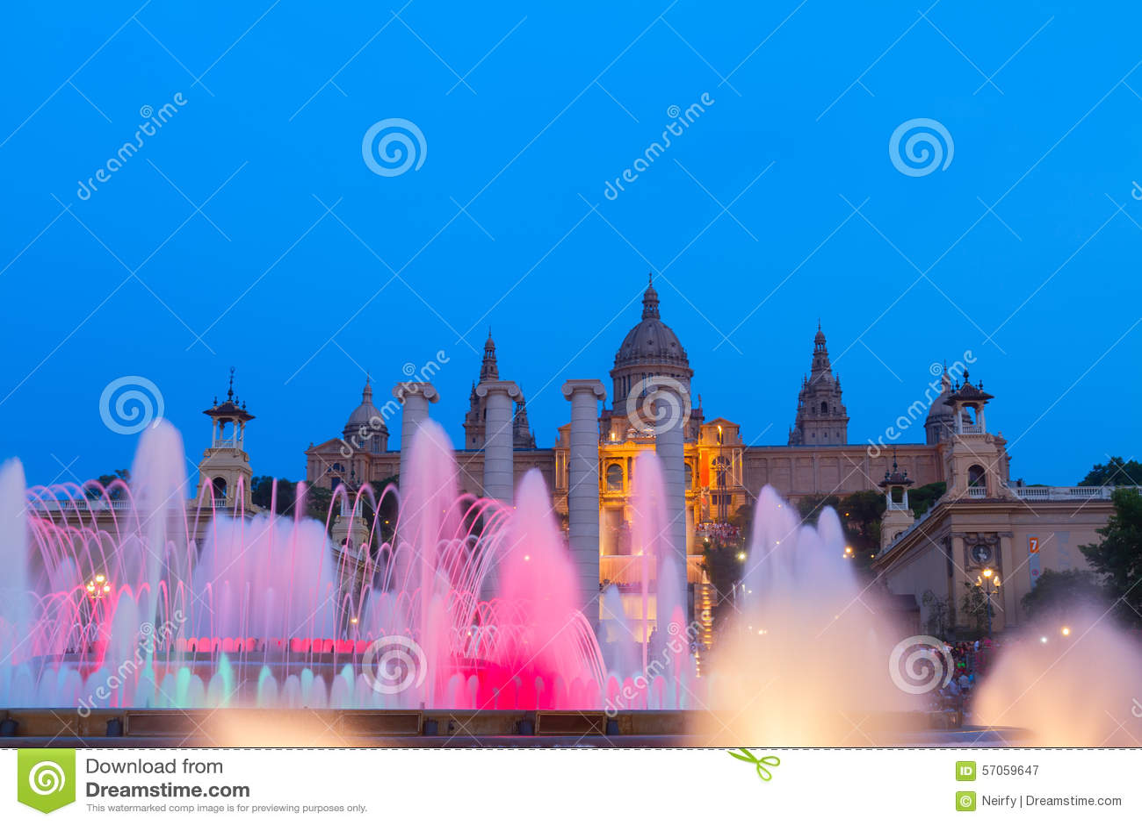 Het magische Fonteinlicht toont, Barcelona