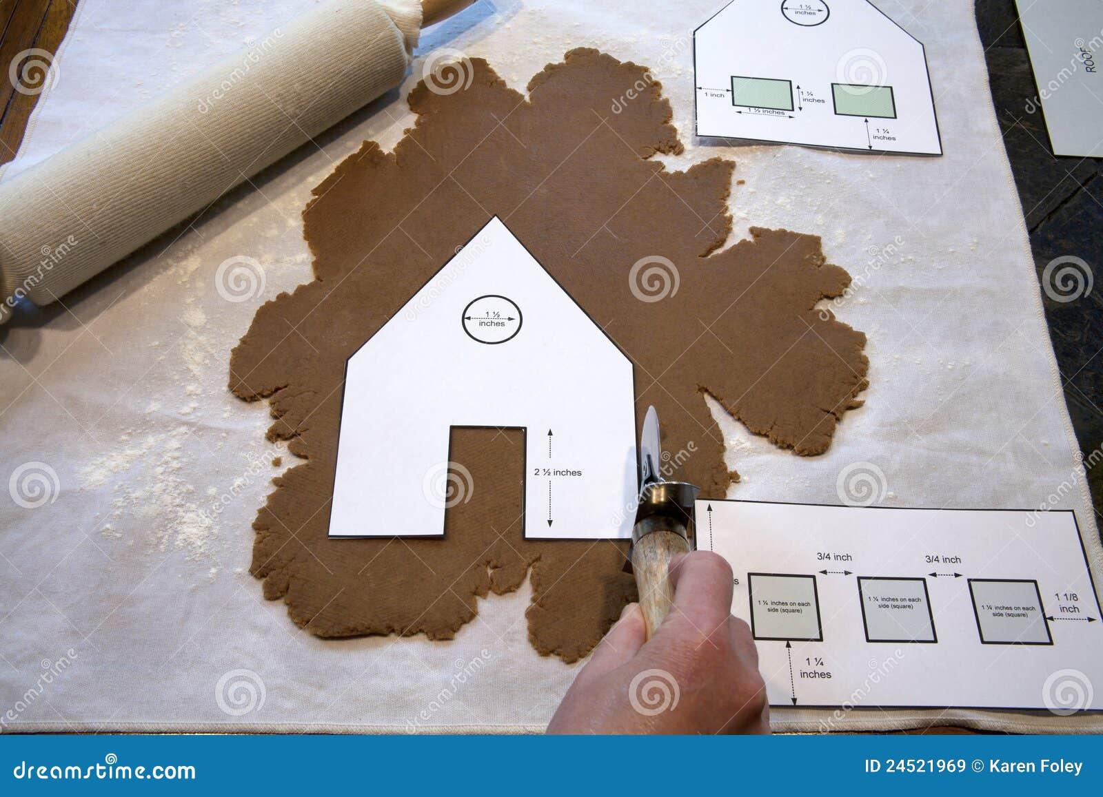 Het maken van een huis van de peperkoek stock afbeelding for Huis gezellig maken goedkoop