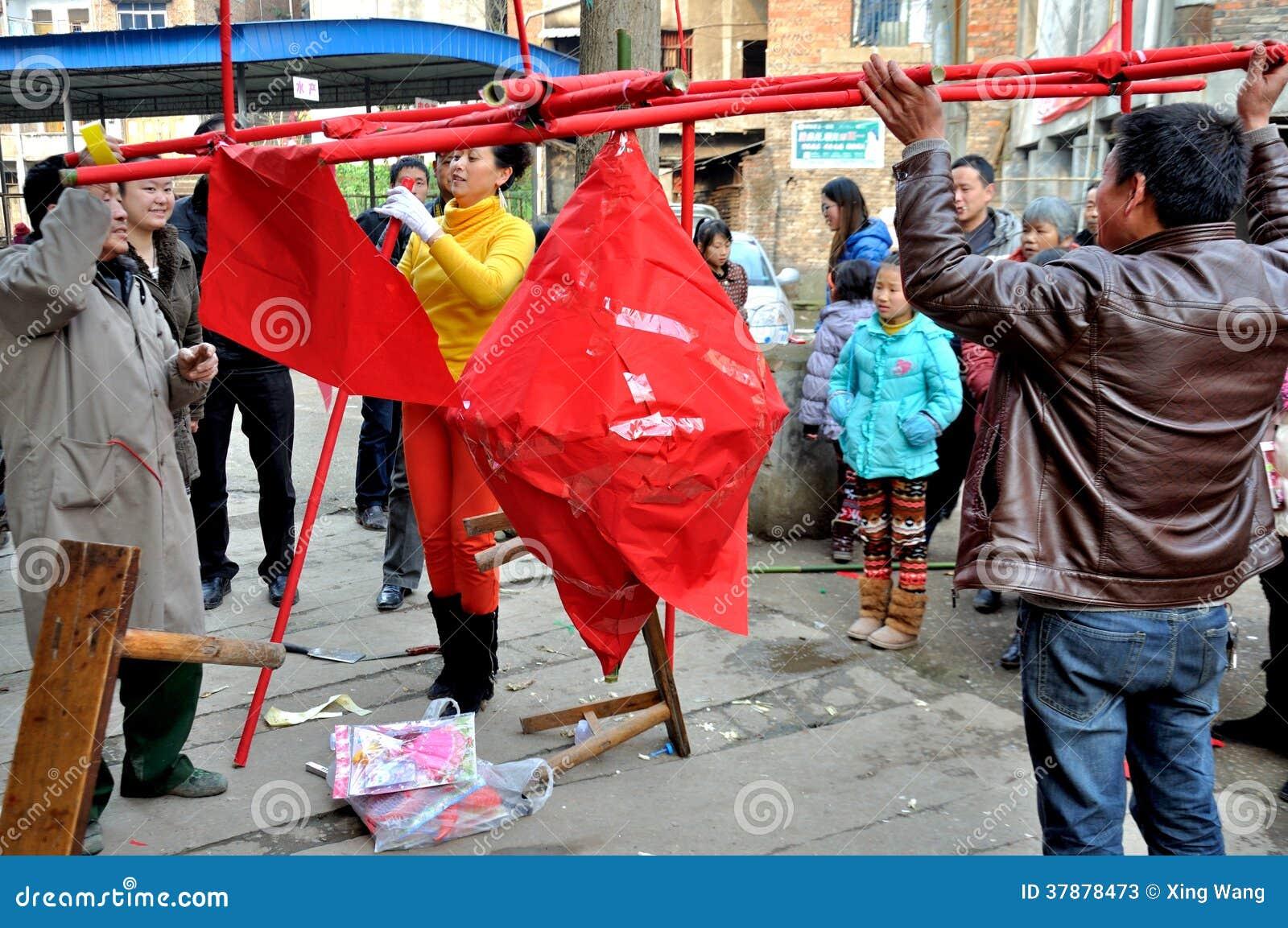 Het maken van Padlantaarn op Padfestival
