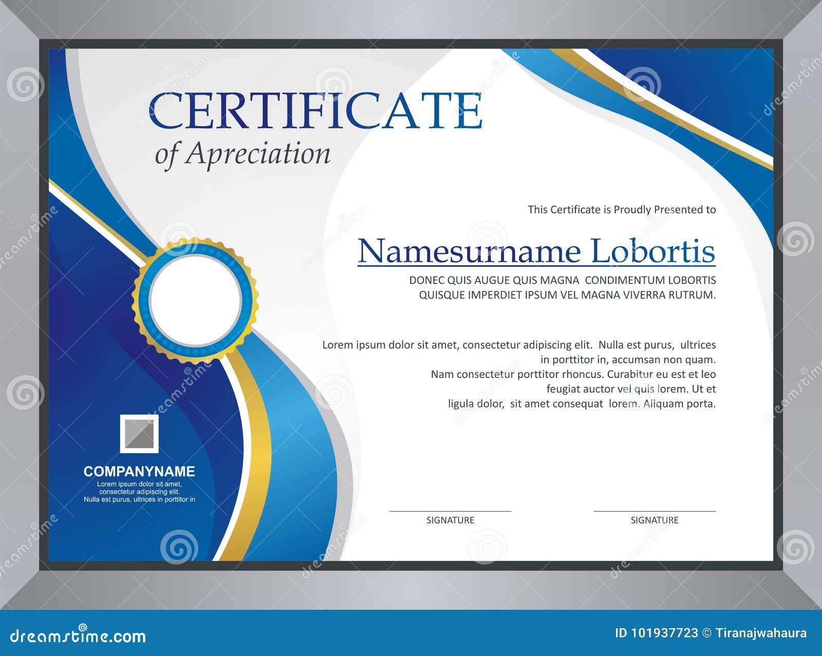 Het malplaatje van het certificaat