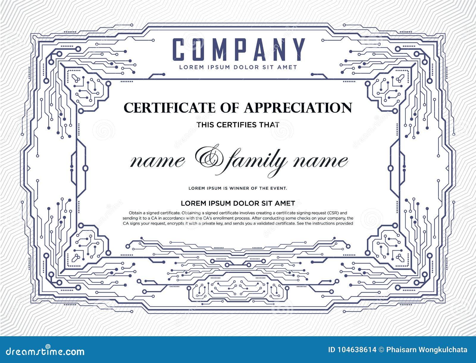 Download Het Malplaatje Van Het Certificaatontwerp Stock Illustratie - Illustratie bestaande uit decoratief, graduatie: 104638614
