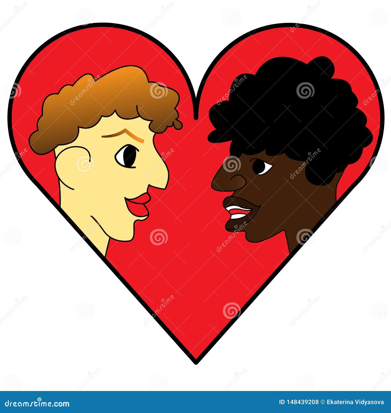 Het malplaatje van het embleemontwerp een paarpictogram op de achtergrond van het hart