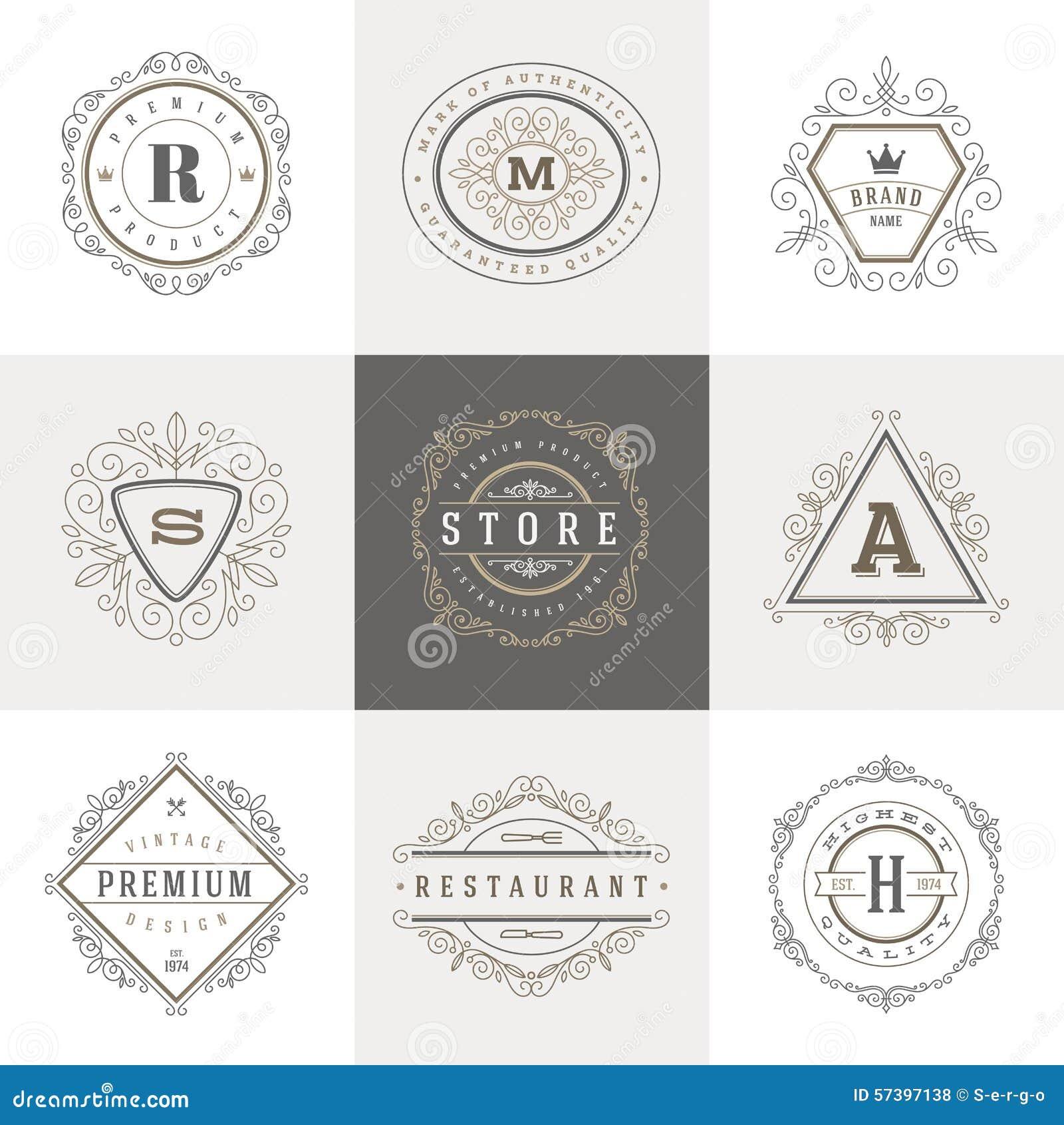Het malplaatje van het monogramembleem