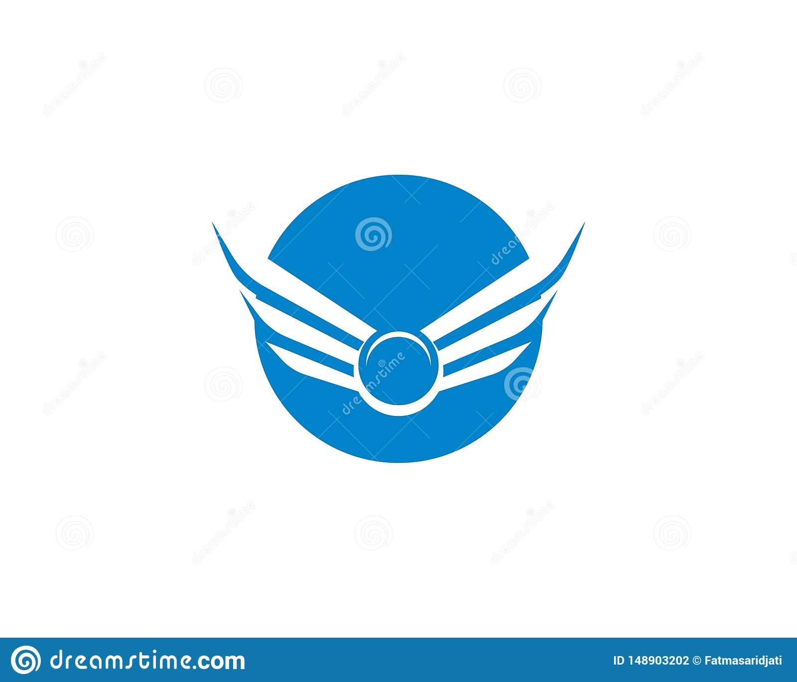 Het malplaatje van het vleugelembleem