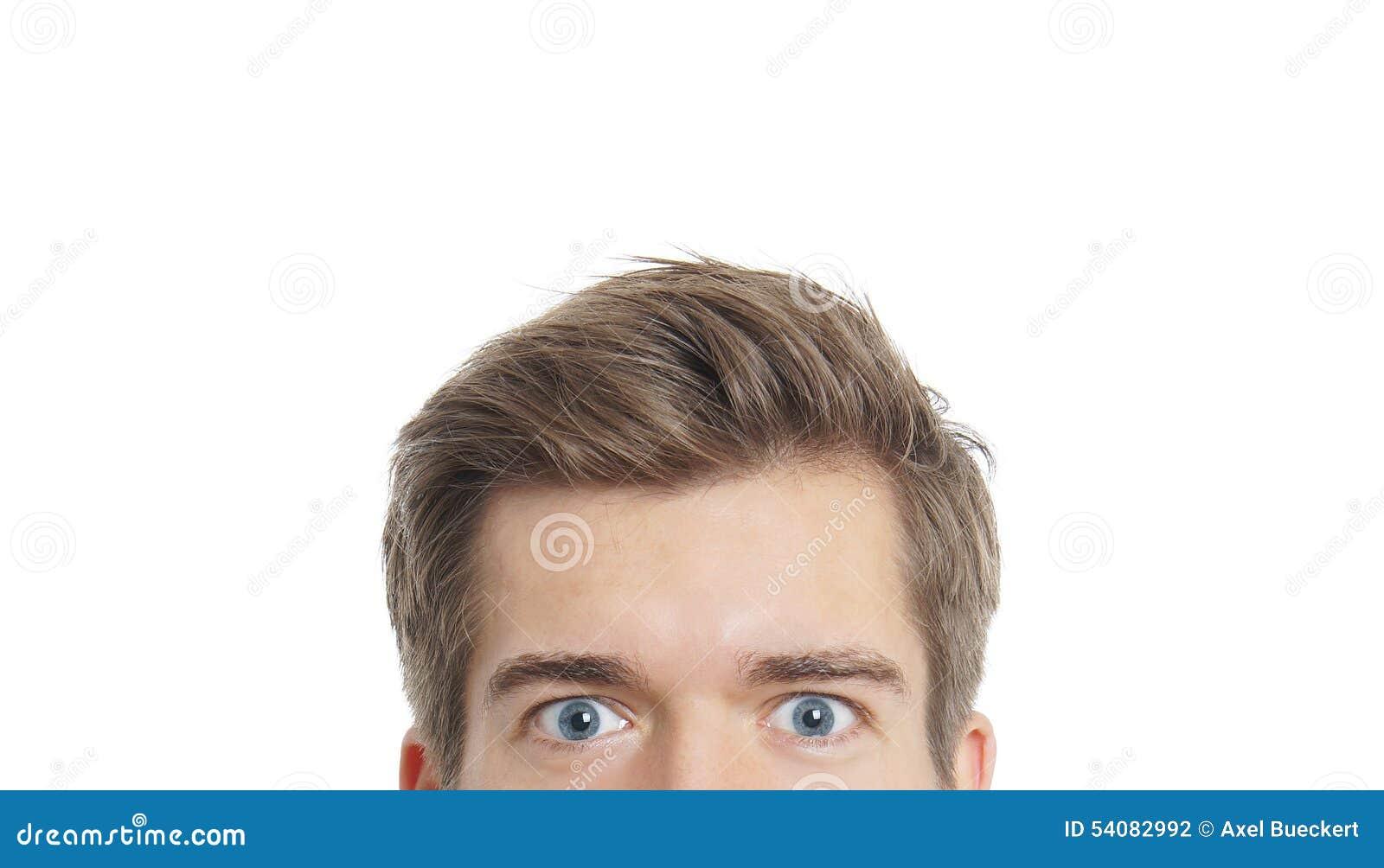 Het mannelijke ogen staren