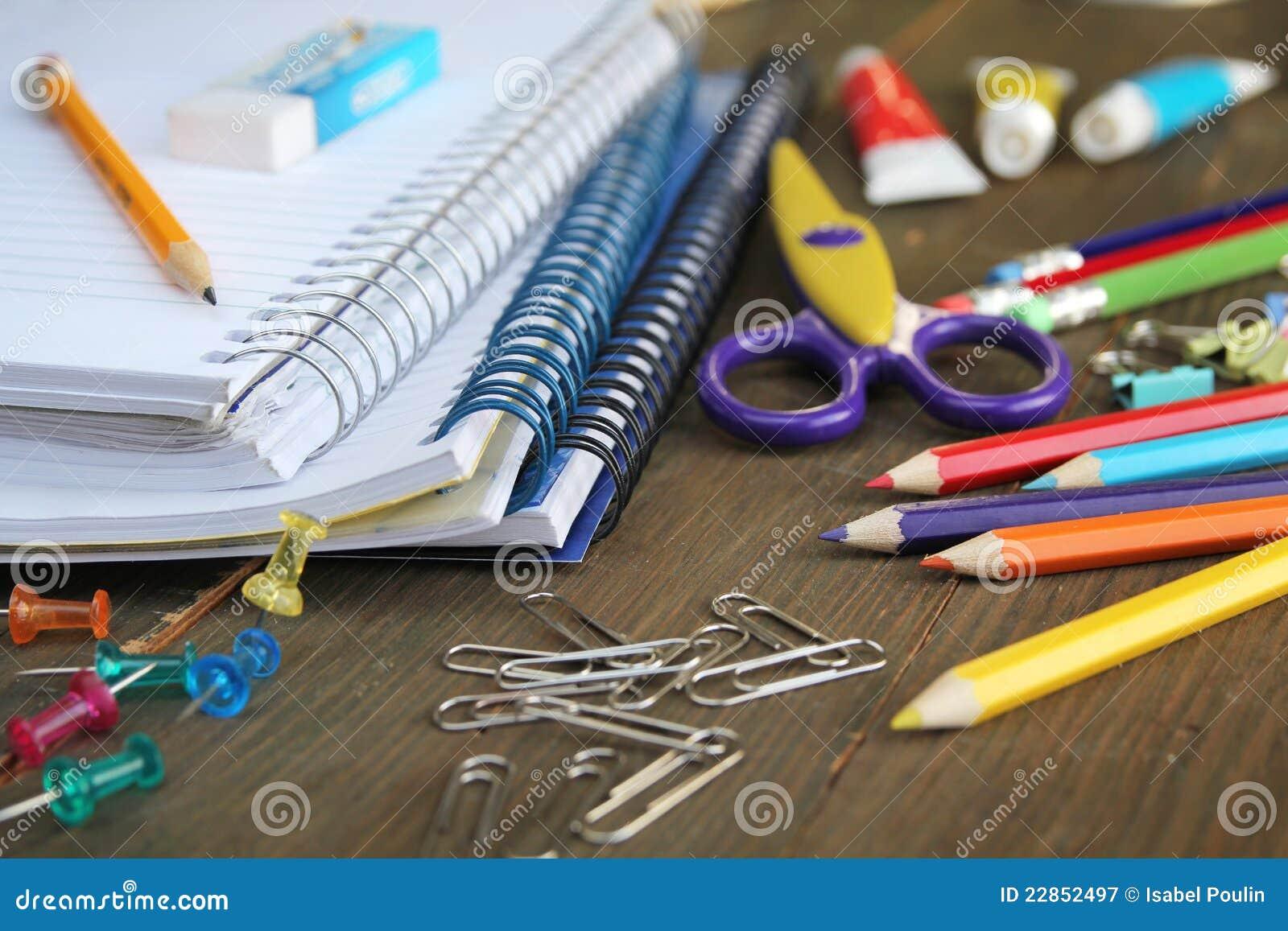 Het Materiaal Van De School Stock Afbeelding Afbeelding