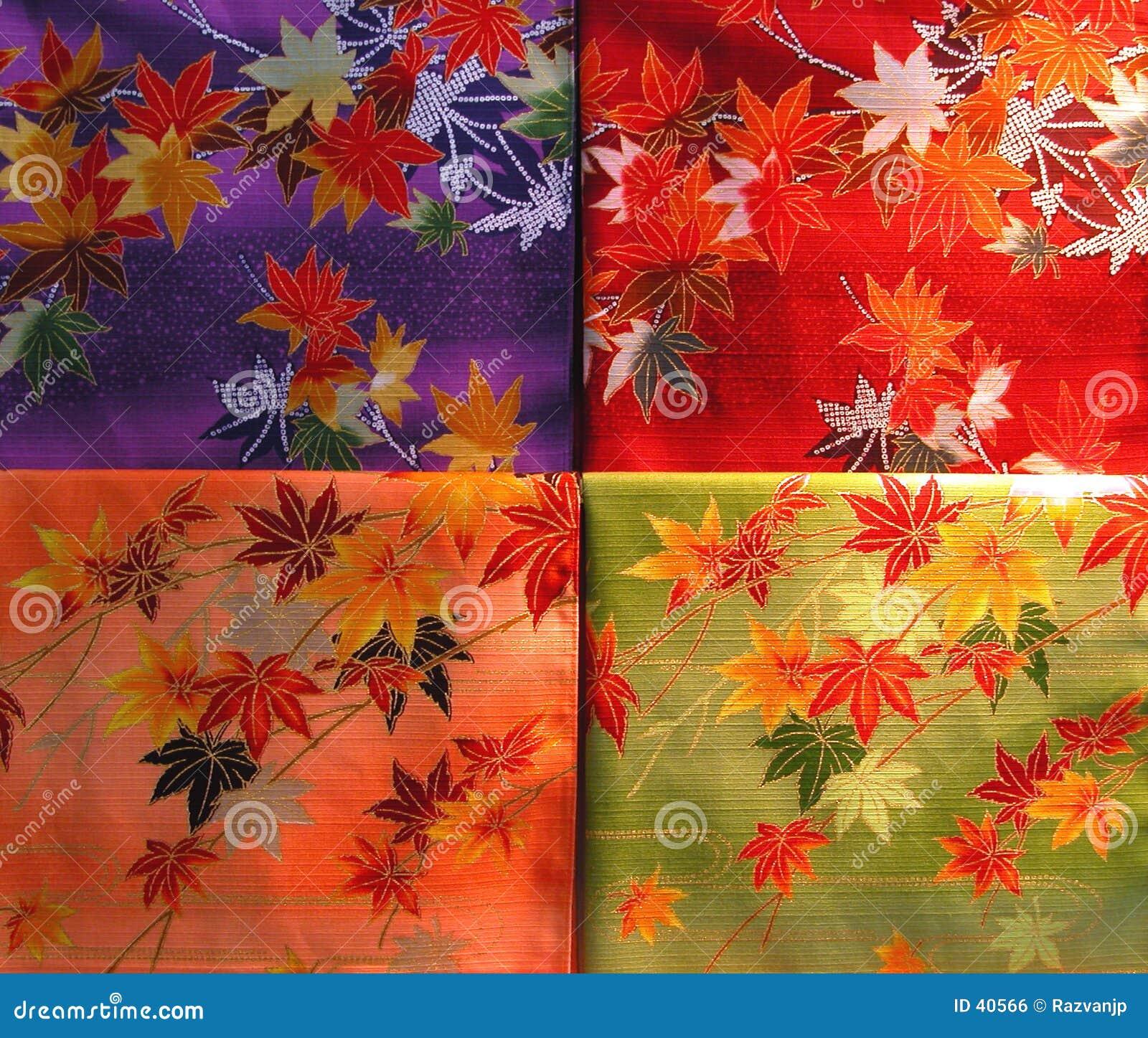 Het materiaaltextuur van de kimono