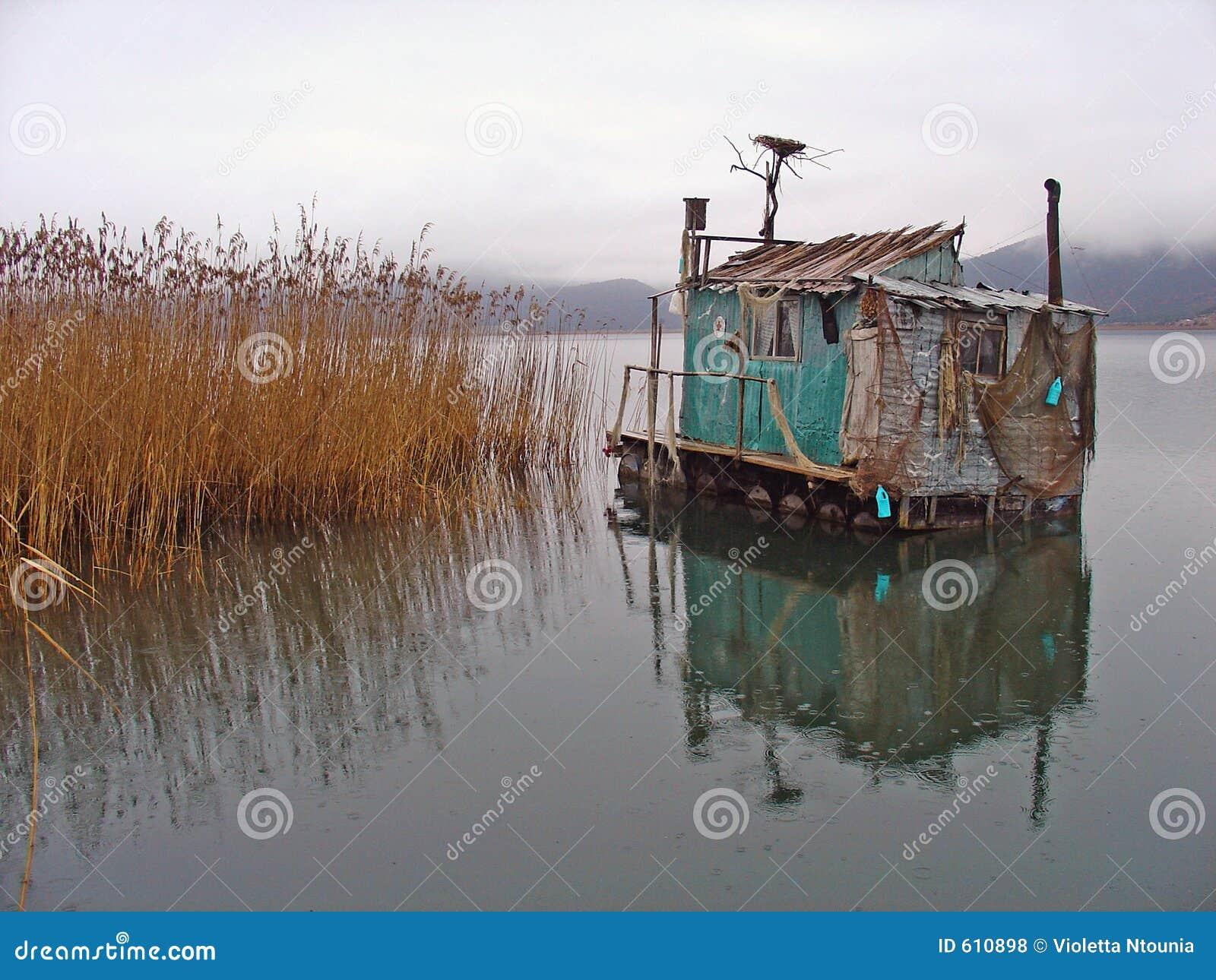 In het meer