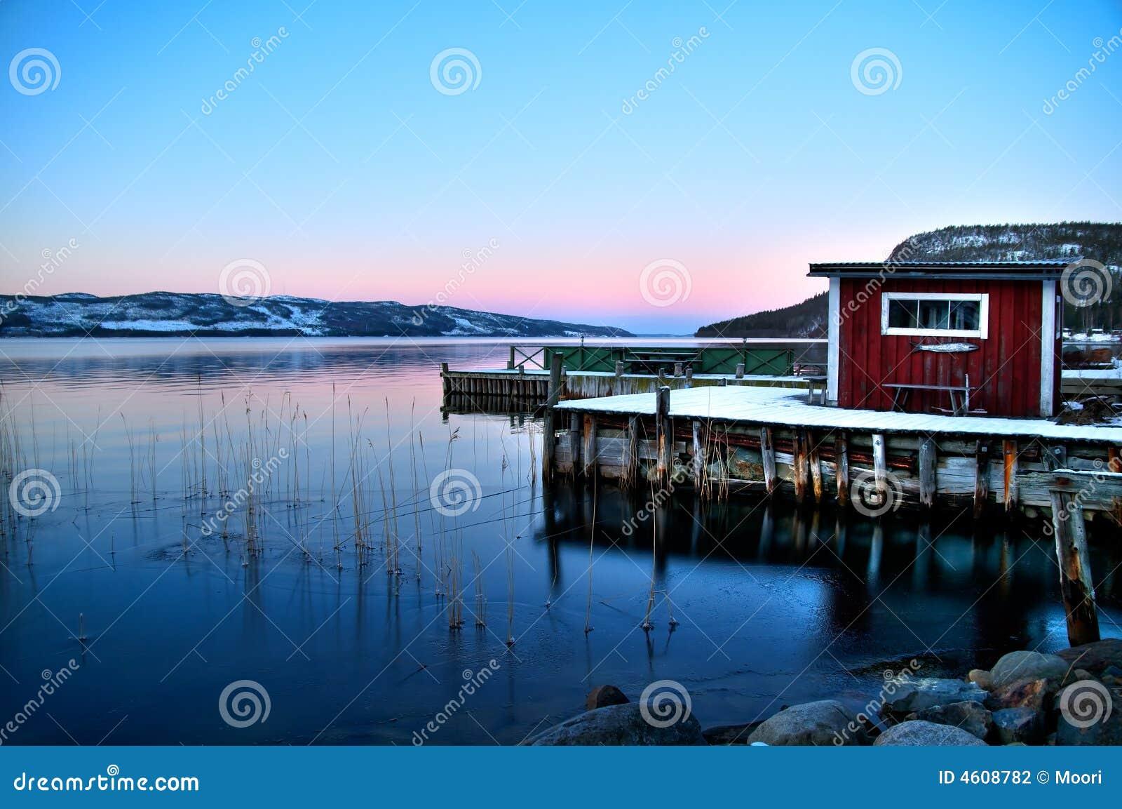 Het meer van Lapland