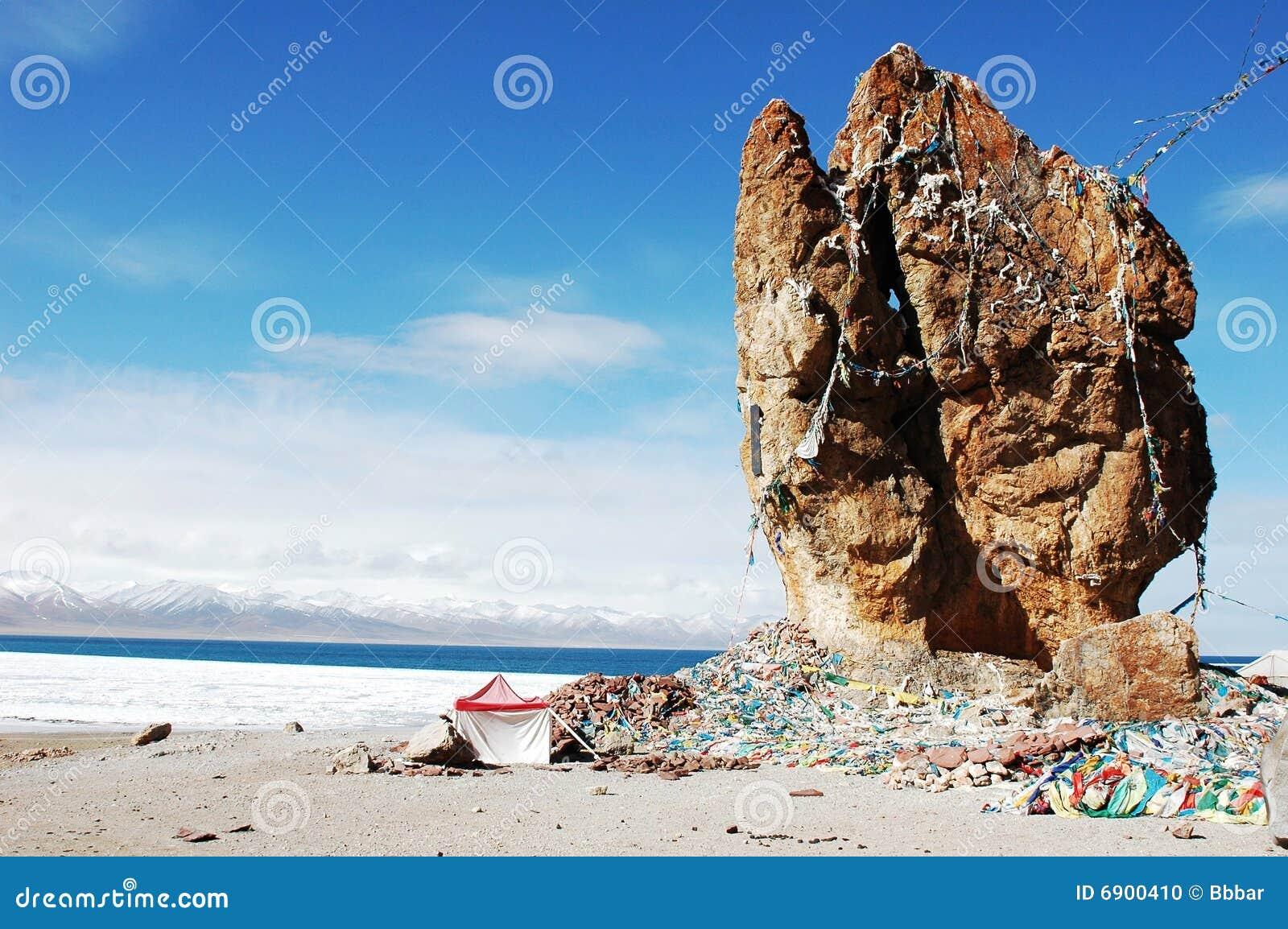 Het Meer van Namtso in Tibet