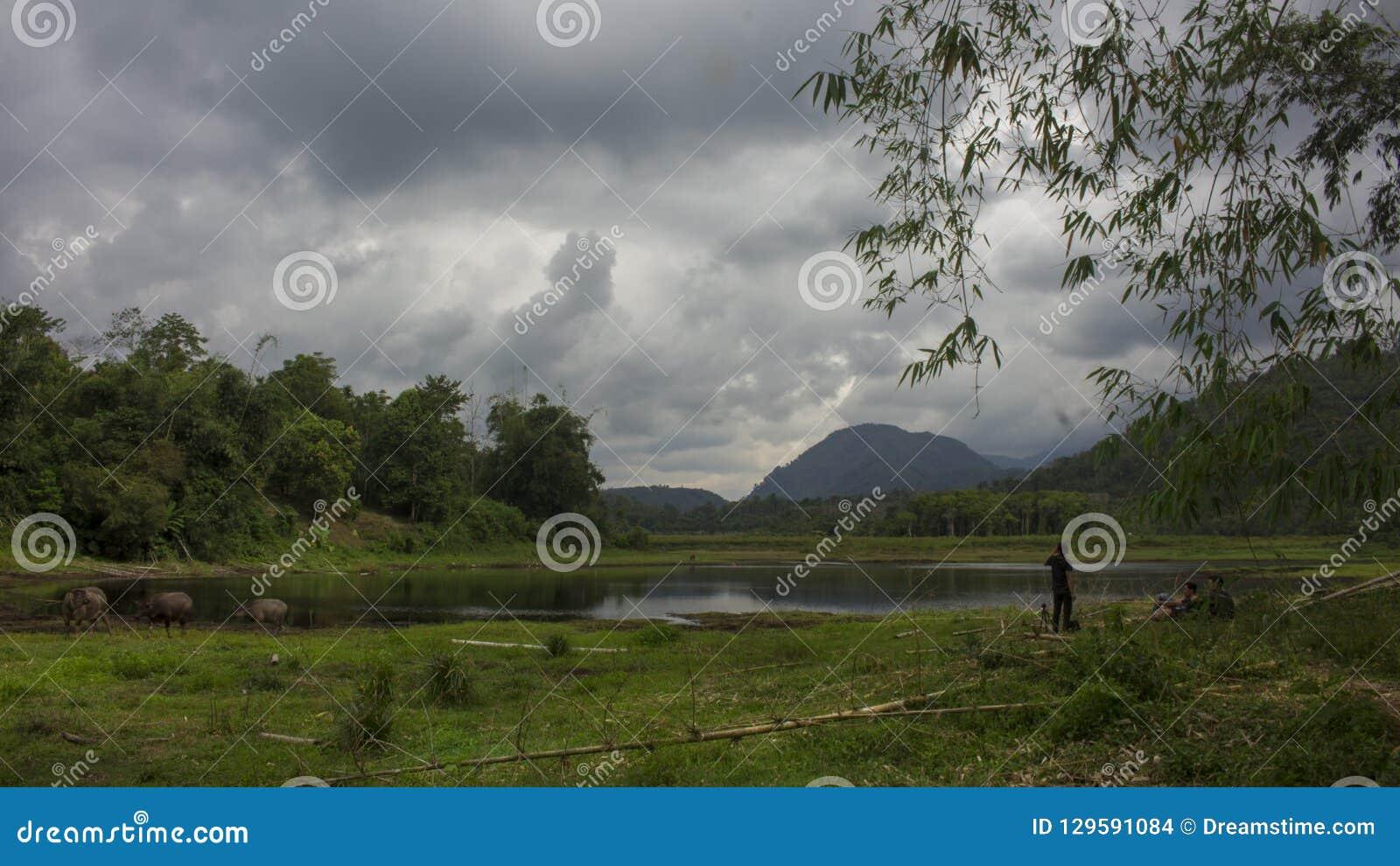 Het Meer van Renahpadang in Lolo Gedang Kerinci
